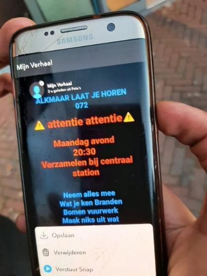 Oproepen via social media om te rellen in Alkmaar en Heerhugowaard. Plannen om winkels, zoals een juwelier, te plunderen. 'Neem alles mee wat je ken branden'