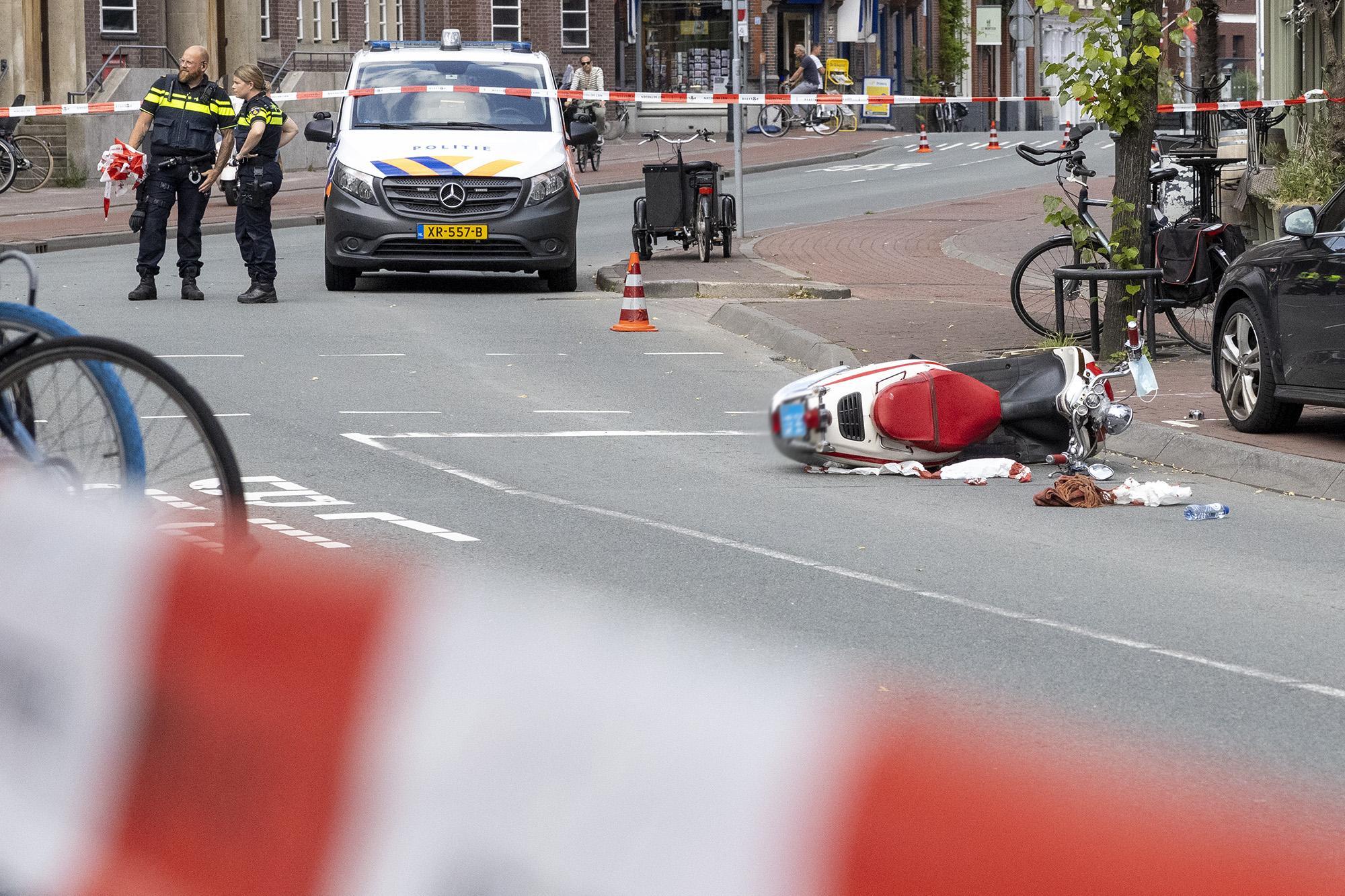 Scooterrijder ernstig gewond bij ongeval in centrum van Haarlem