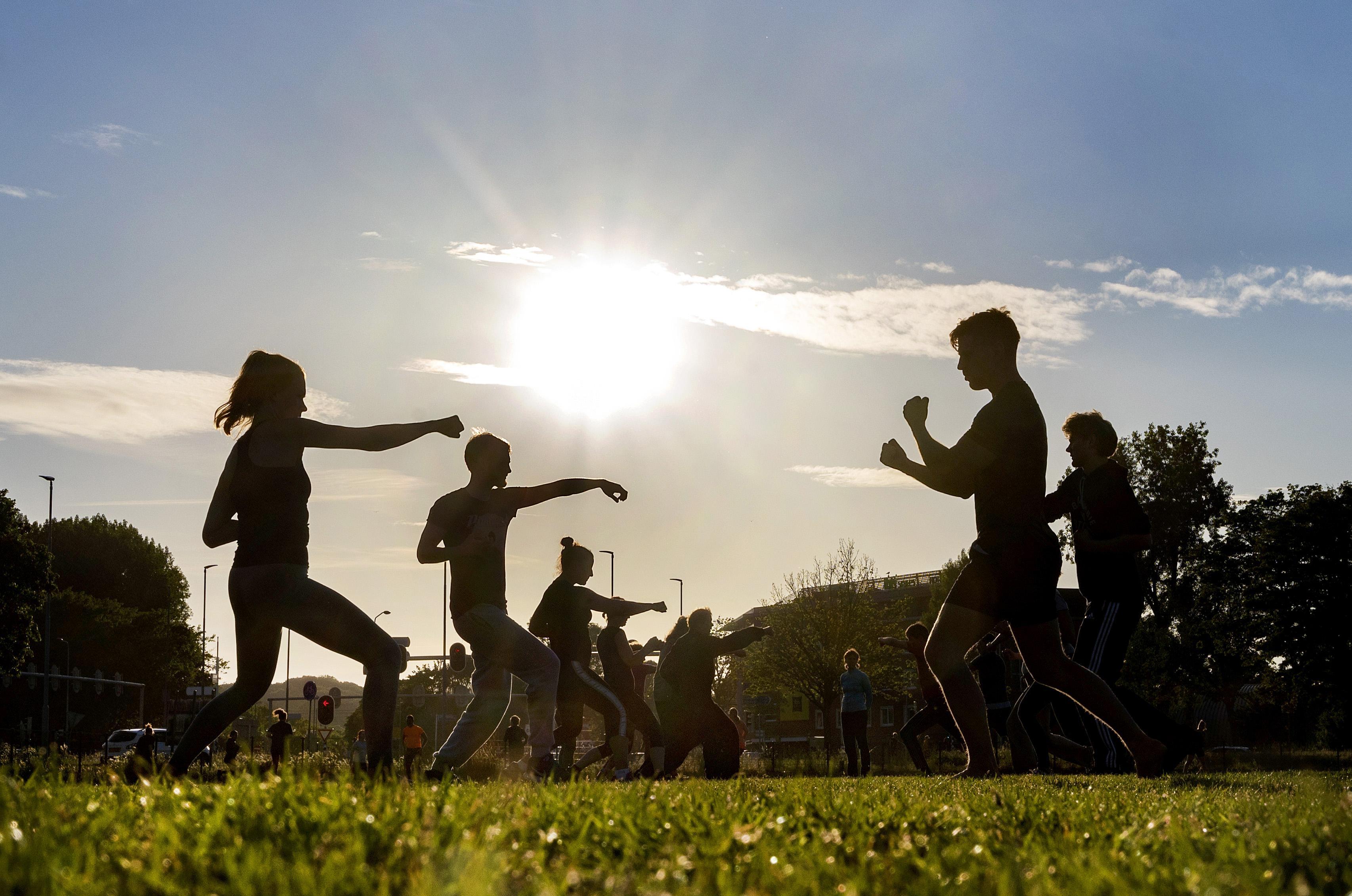 Recreatieveld aan de Kleverlaan in Haarlem groeit uit tot ontmoetingsplaats voor buitensporters: Strakke bil- en buikspieren in de openlucht