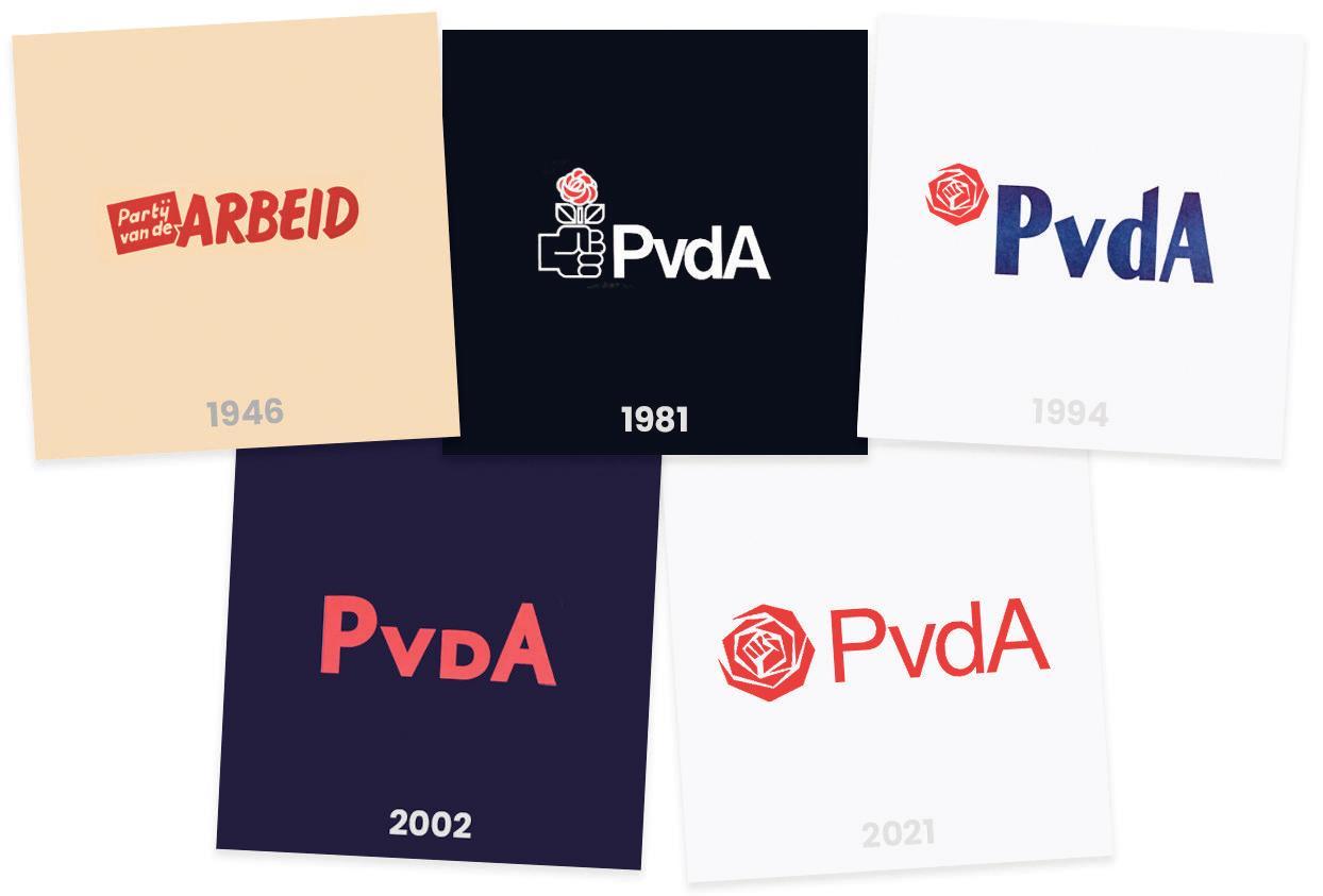 Een nieuw logo voor zieltjes en zeteltjes. Werkt PvdA het historische verlies weg met de 'vuistroos'?