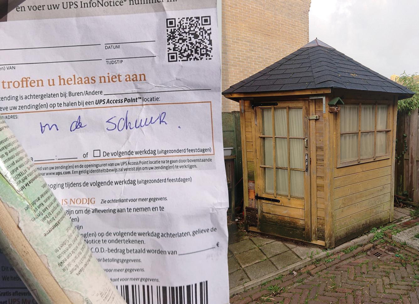 Voor pakketbezorgers is een tuinhuisje ook een schuur