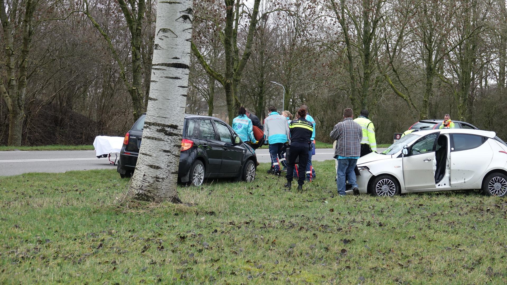 Auto vliegt uit de bocht op N245 bij Dirkshorn, bestuurder zwaargewond