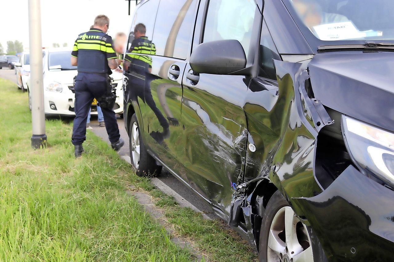 Ongeval tussen auto en taxi in Noordwijk