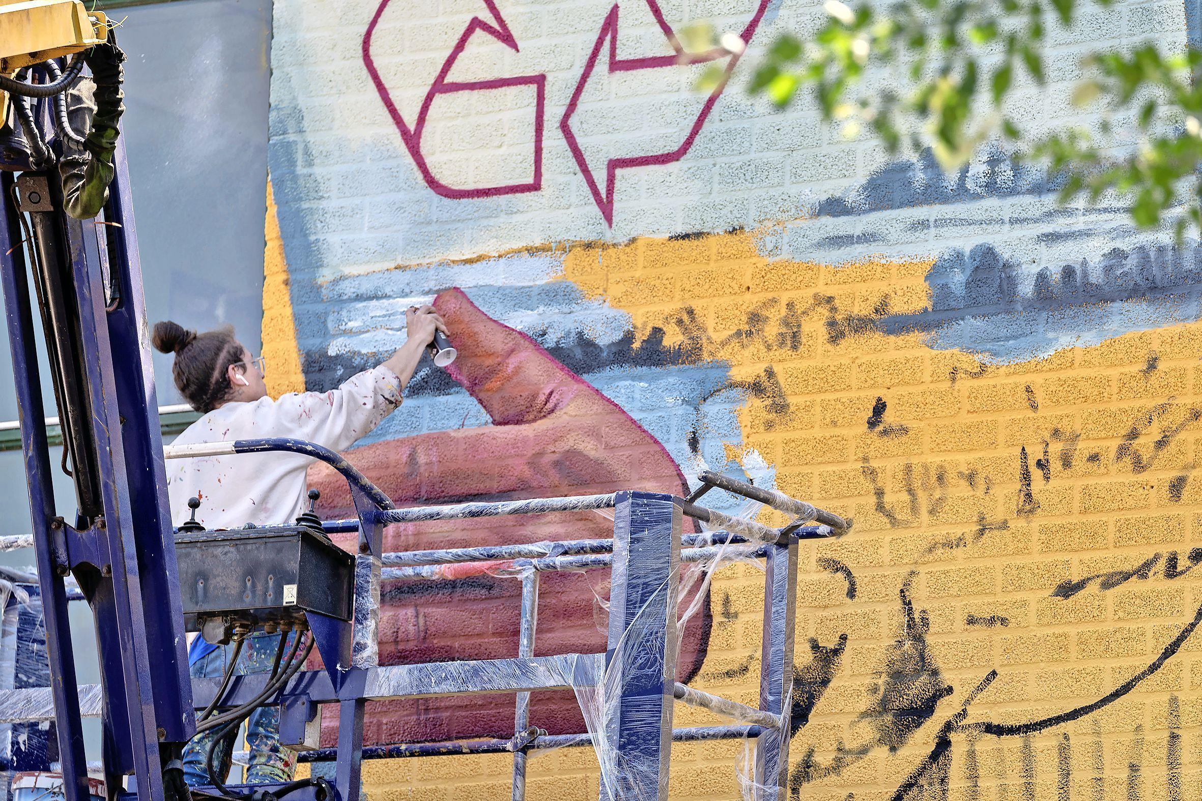 Leven in een stolp in Schalkwijk. Metershoge muurschilderingen als aftrap van HaarlemIcons