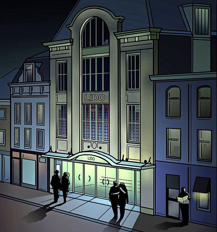 Het spookhuis boven het imposante Lido Theater | Leiden in Klare Lijn