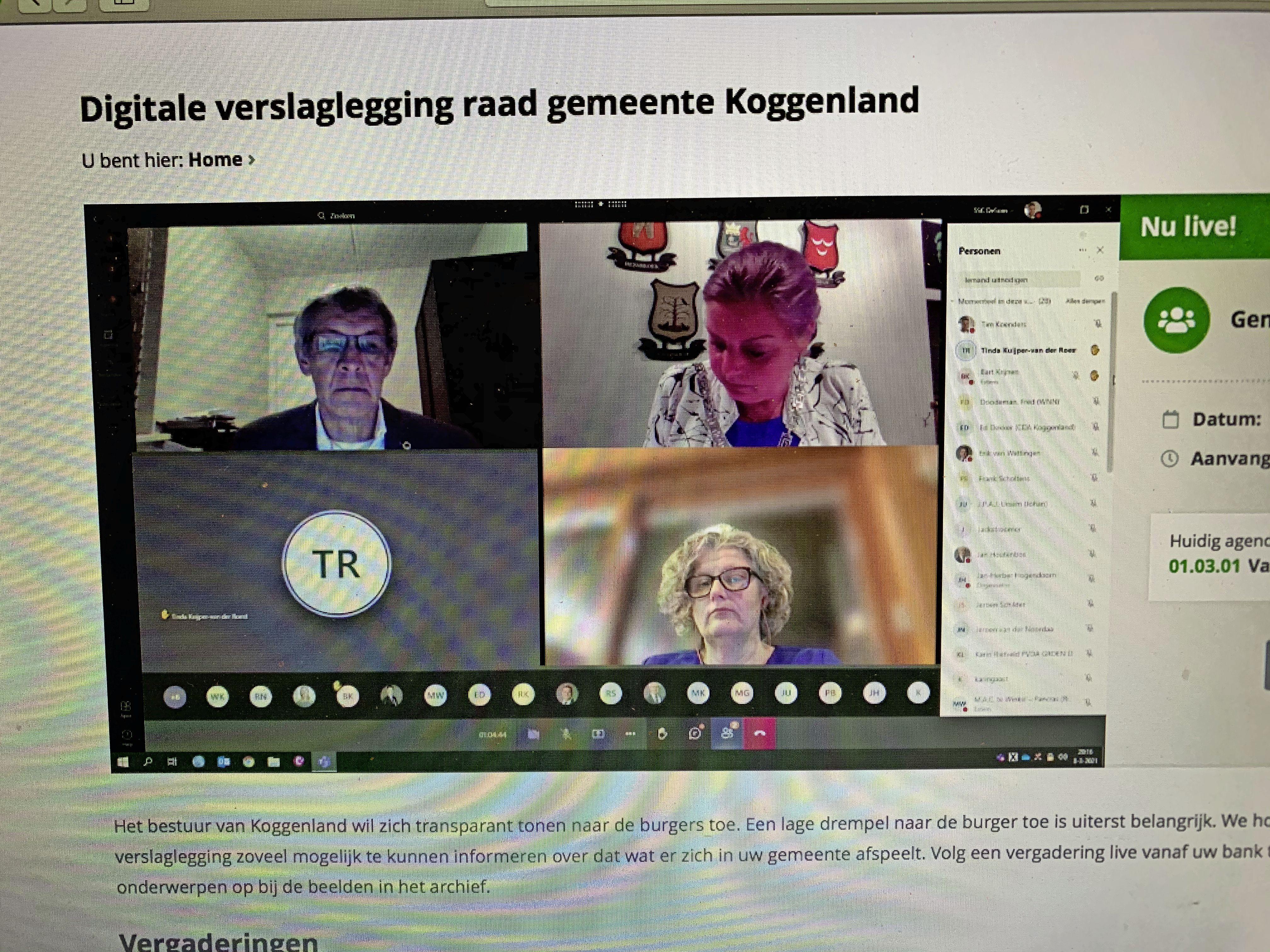 Digitale raad Koggenland voortijdig gestaakt. Technisch foutenfestival eindigt in volledige chaos