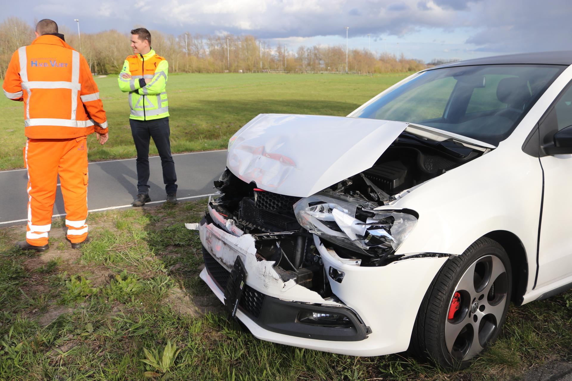Opnieuw ongeluk op N444 in Voorhout, veel schade en file