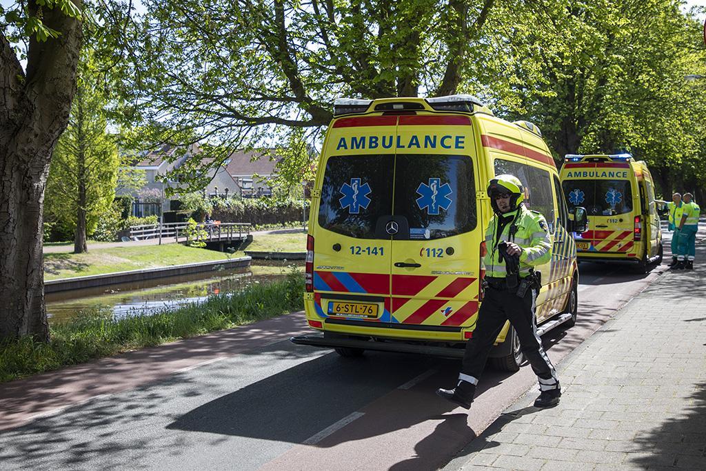 Wielrenner zwaargewond bij valpartij in Vogelenzang