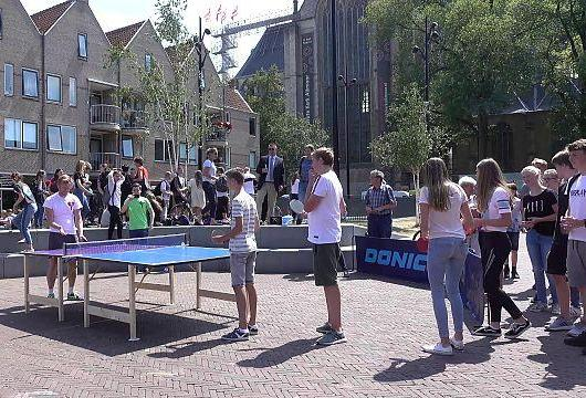 Recordpoging langste tafeltennisrally mislukt in Alkmaar [video]
