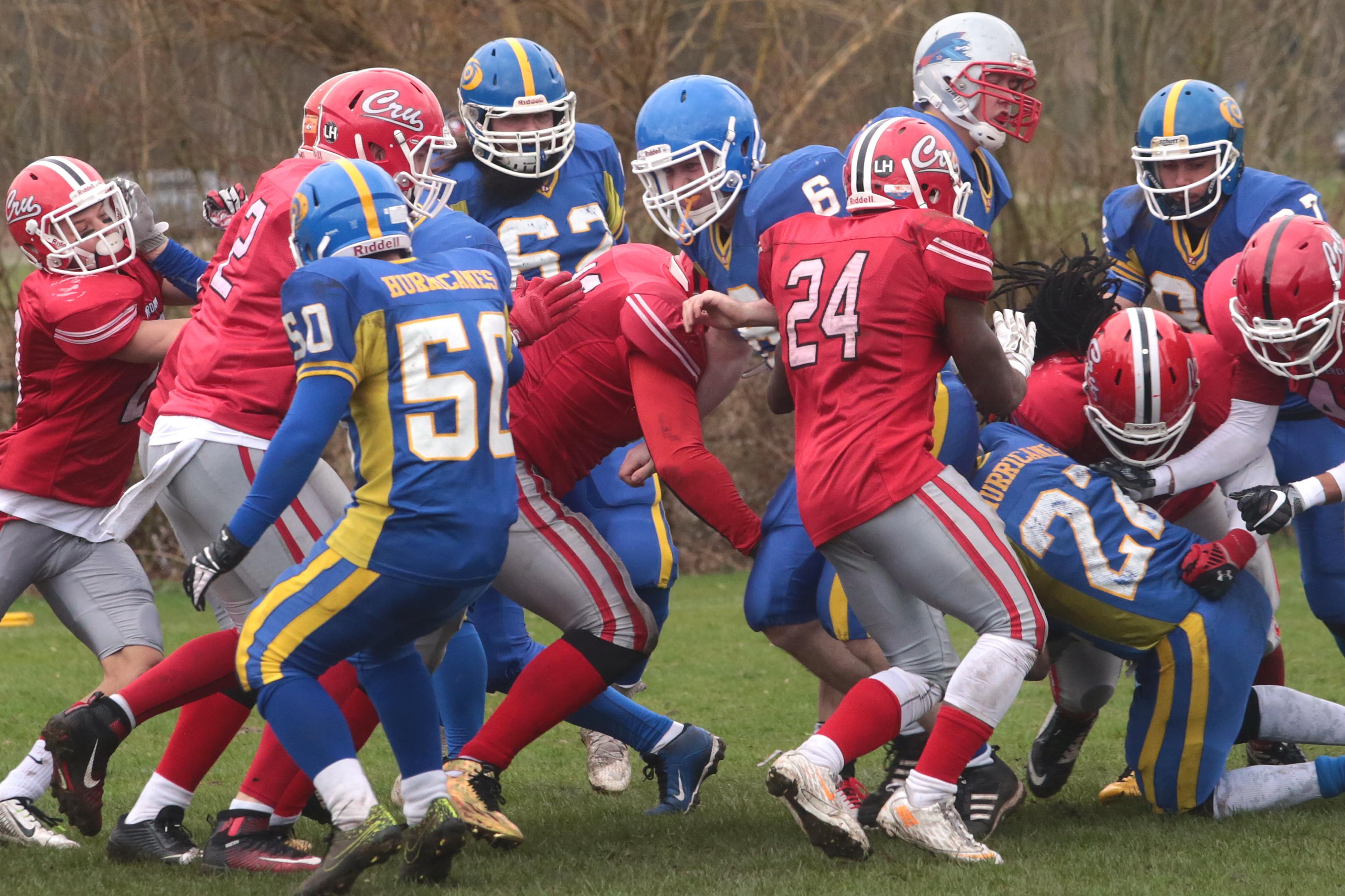Slechts vijf teams over in eredivisie American football