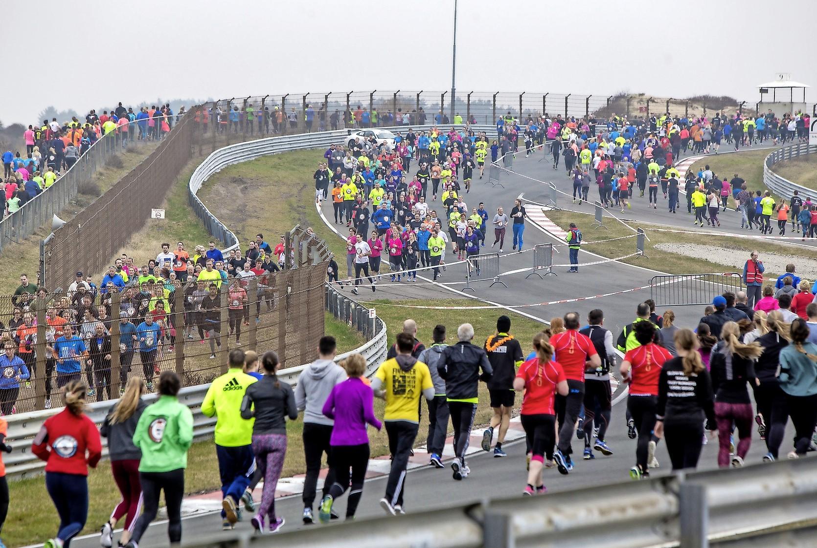 Weer massale opkomst bij Zandvoort Circuit Run