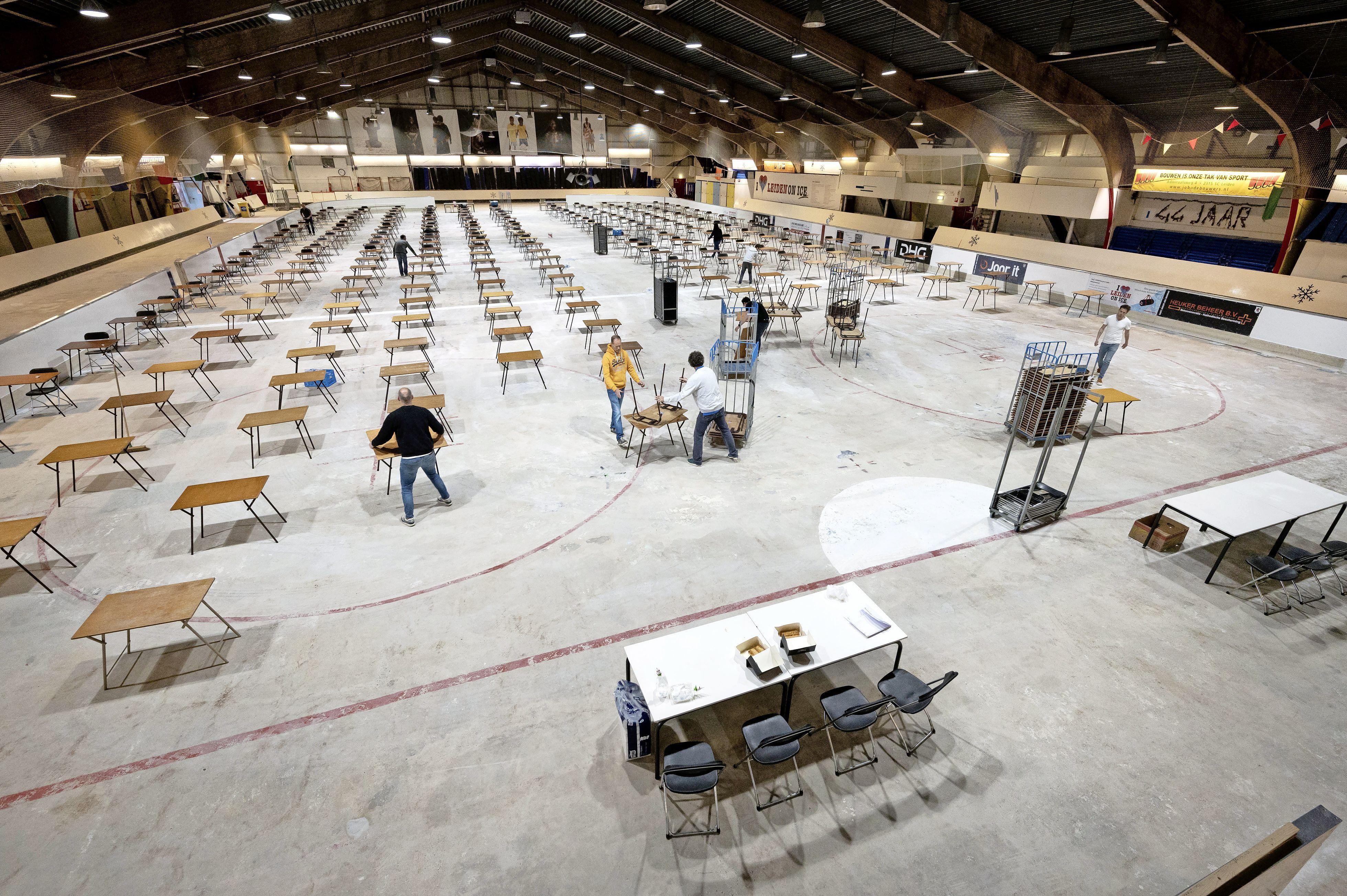 Middelbare scholen komen door corona tot bijzondere examenlocaties: van Corpus tot schaatshal