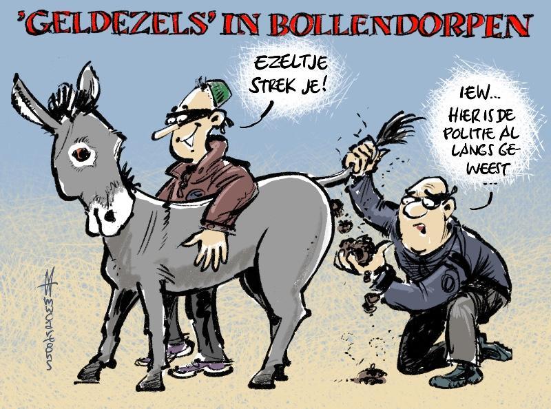 Cartoon Wolterink: Scholieren gebruikt als geldezels criminelen