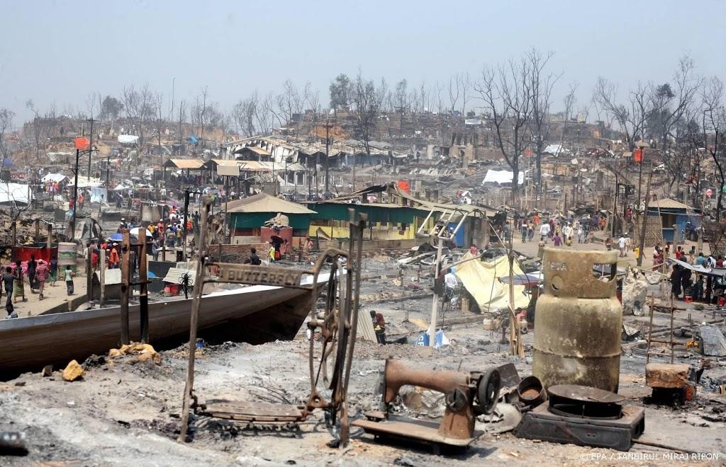 Doden en gewonden bij grote brand in vluchtelingenkamp Bangladesh