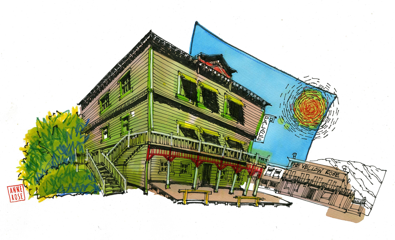 Anne Rose Oosterbaan neemt met haar virtuele reisbureau urban sketchers mee over de hele wereld