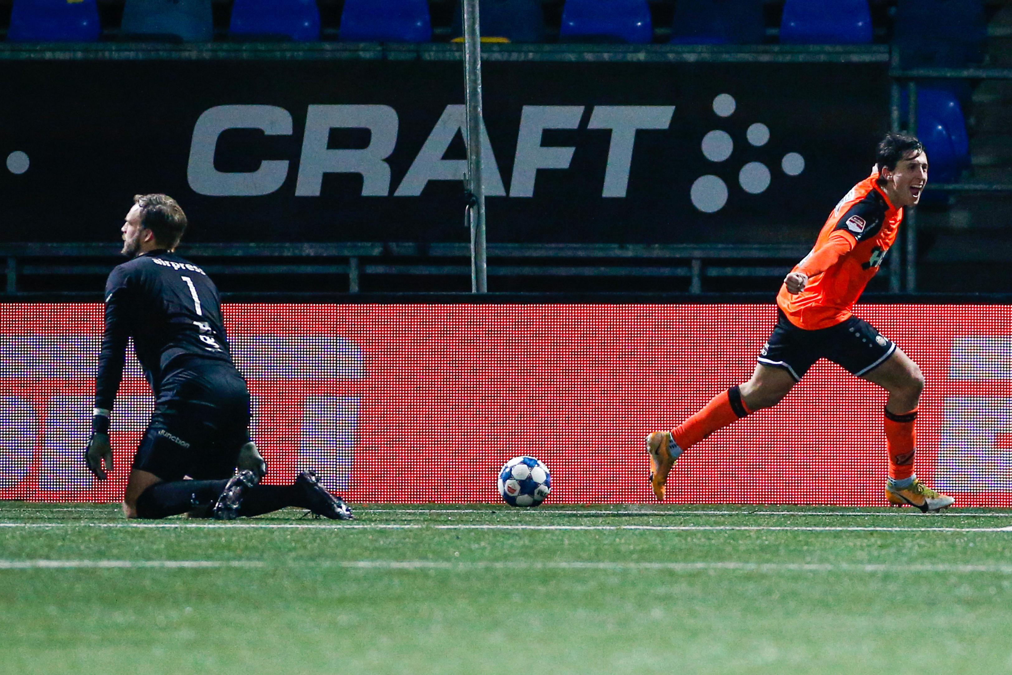 Samuele Mulattieri, matchwinnaar voor FC Volendam tegen Cambuur, staat niet stil bij gemiste kansen: 'De wedstrijd gaat door, ik ga door'