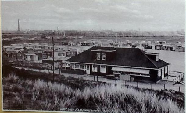 Velsen Vroeger over strand van jaren '30