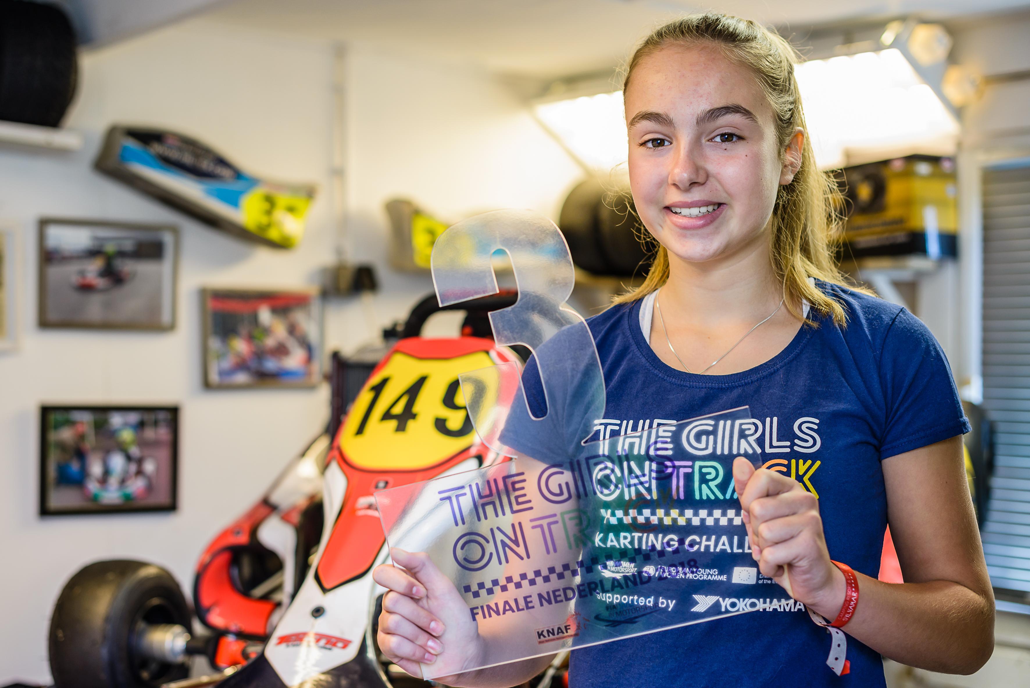 Lisette (13) is de 'nieuwe' Max Verstappen