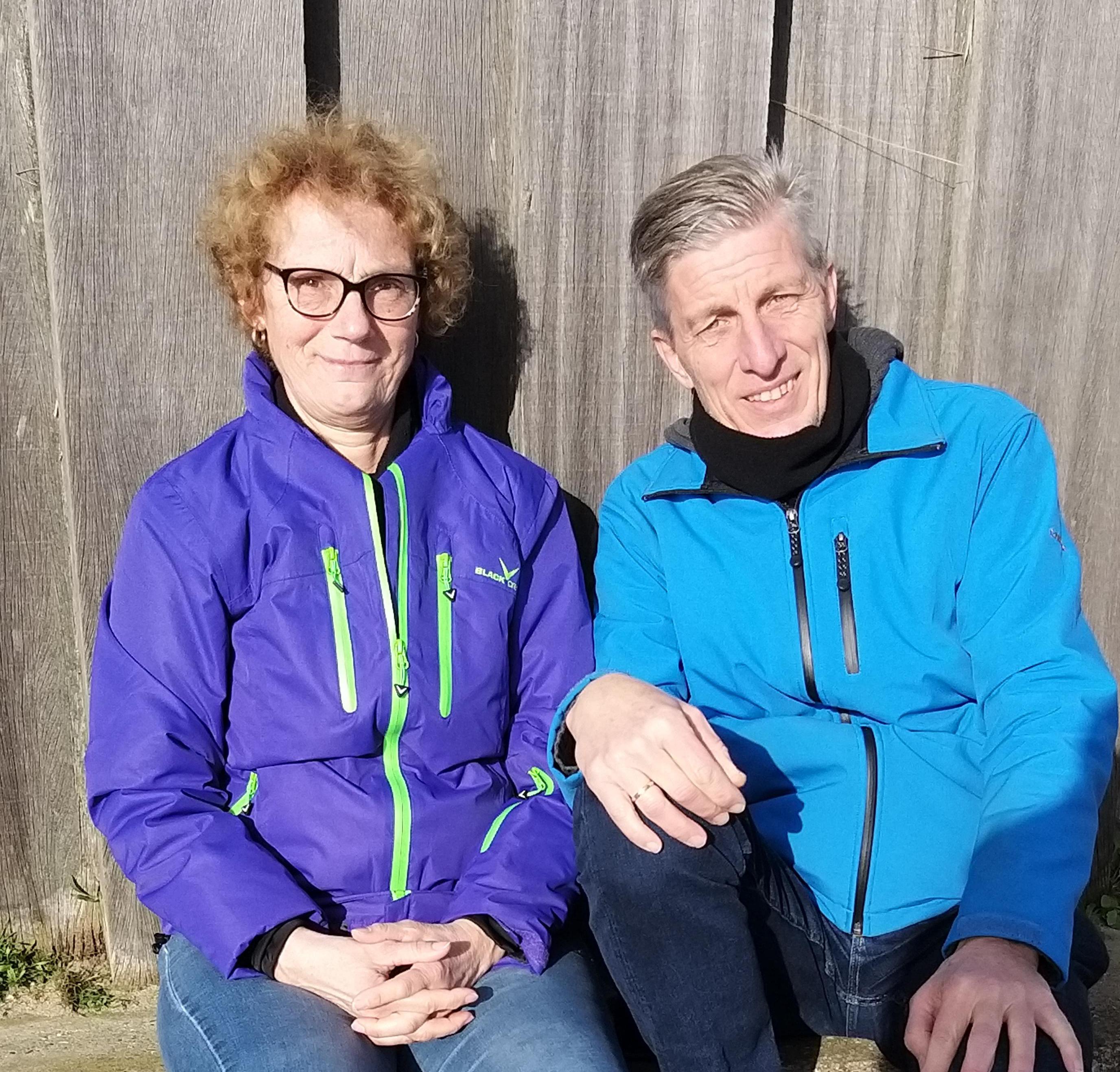 Marion en Jacob puffen even uit in IJmuiden aan Zee