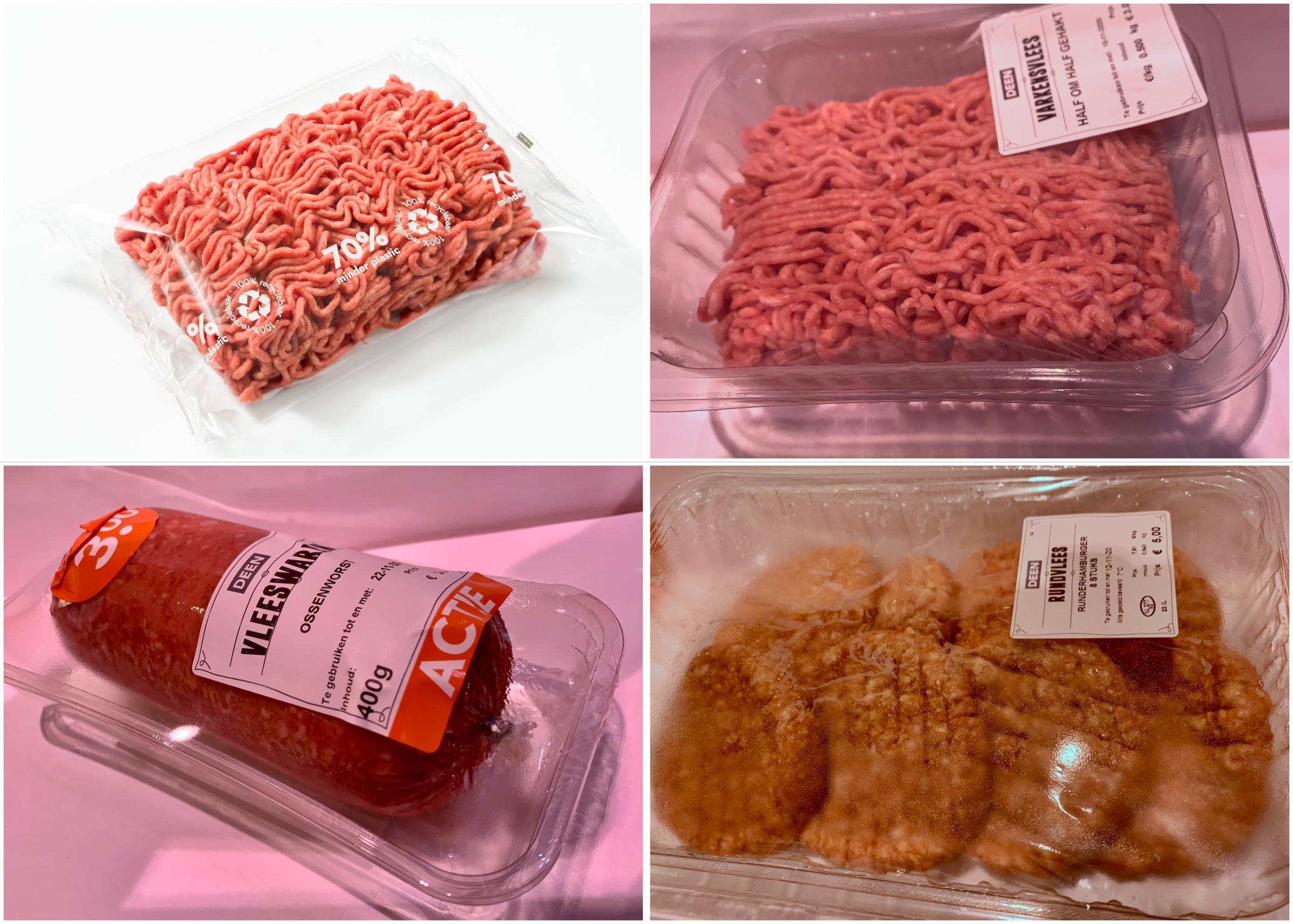 Minder plastic rond gehakt van Deen, supermarktbedrijf wil gebruik plastic in vleesverpakkingen met 70 procent verminderen