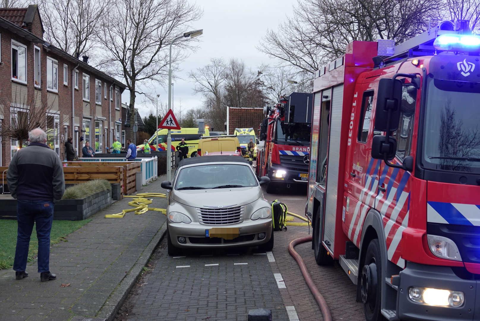 Vijf mensen naar ziekenhuis na woningbrand Assendelft