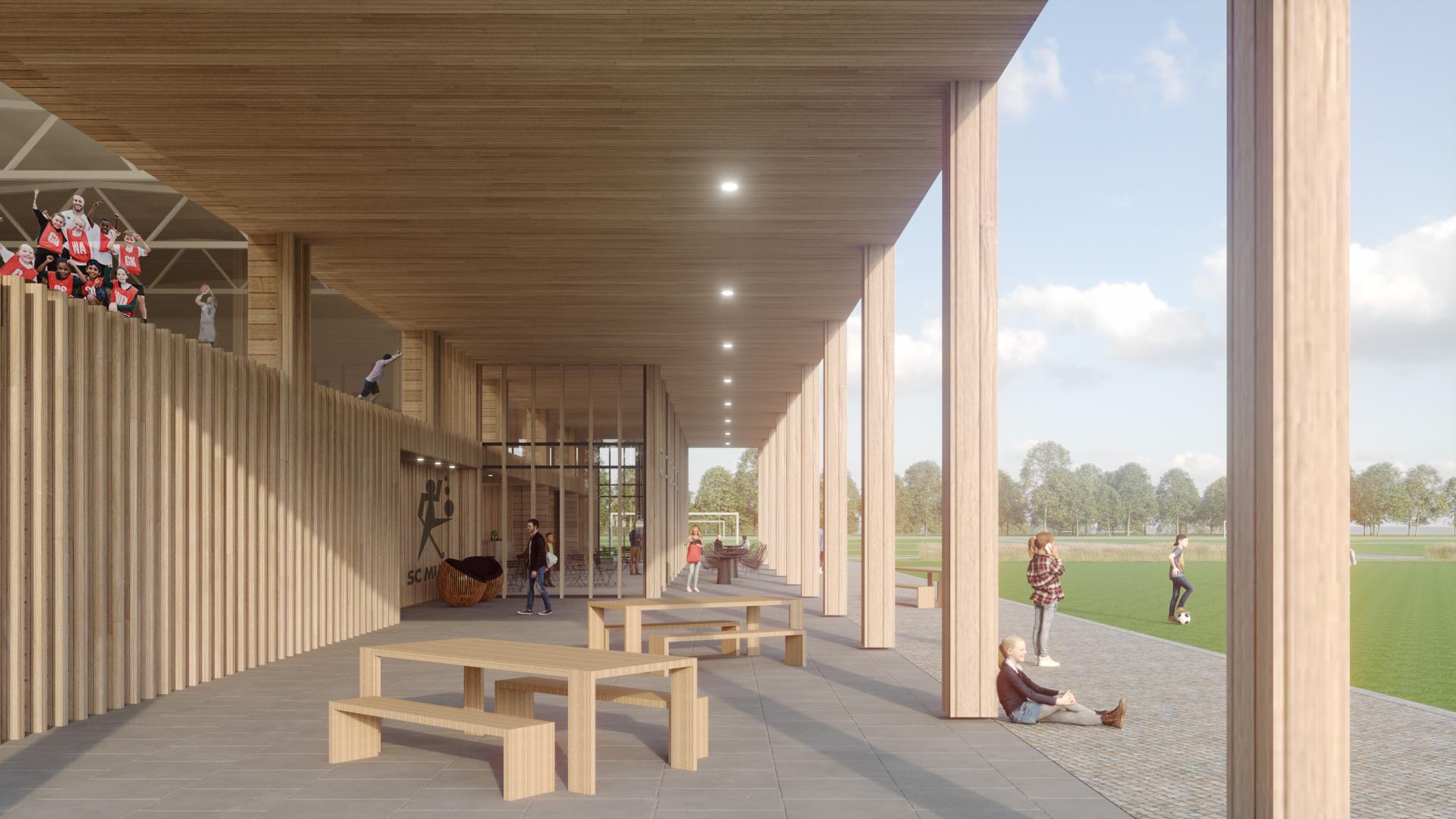 Sportpark Bredius in Muiden krijgt een circulaire sporthal, dus zonder lijmen, kitten en tegels én energieneutraal