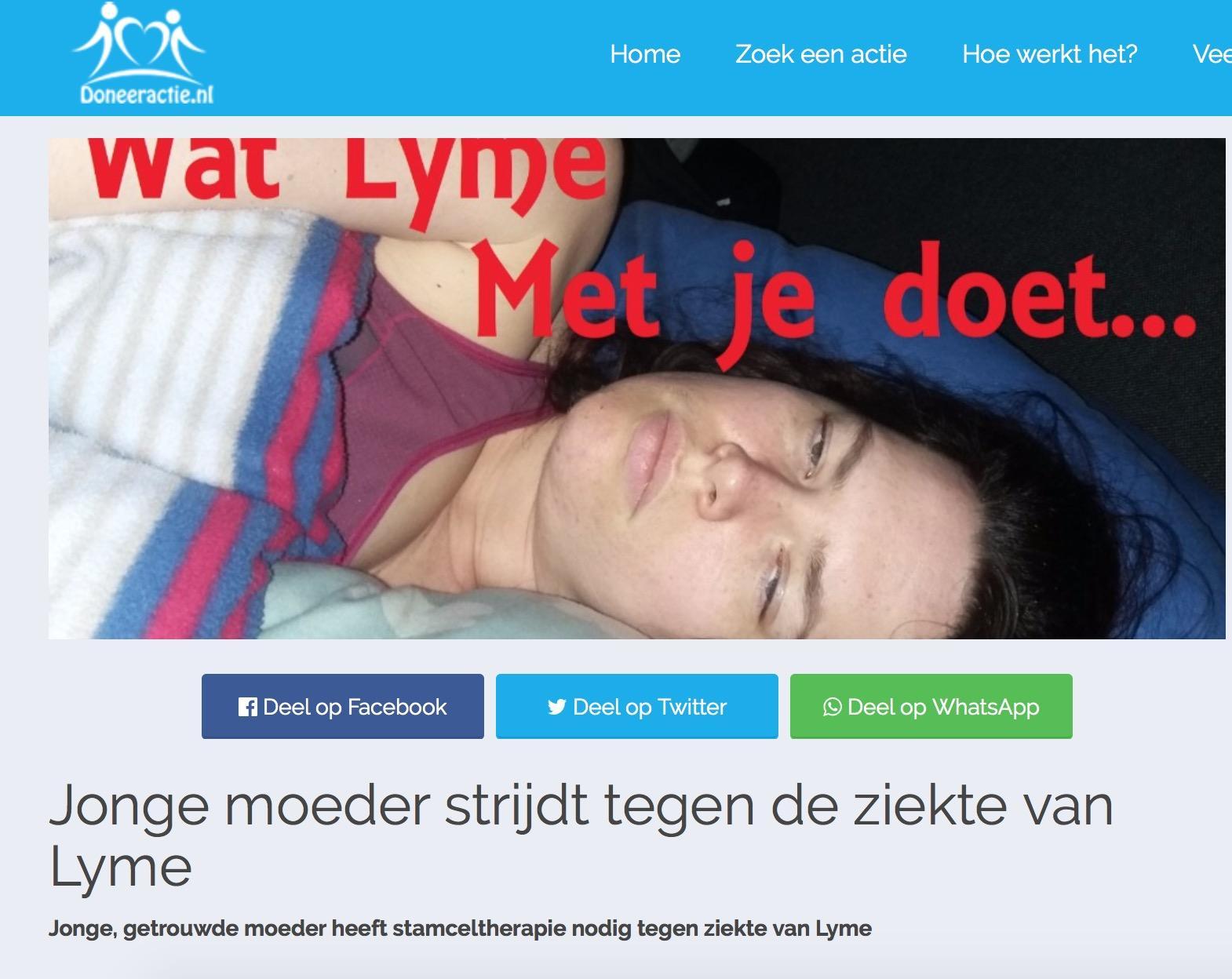 Doneeractie voor jonge Hoornse moeder met Lyme
