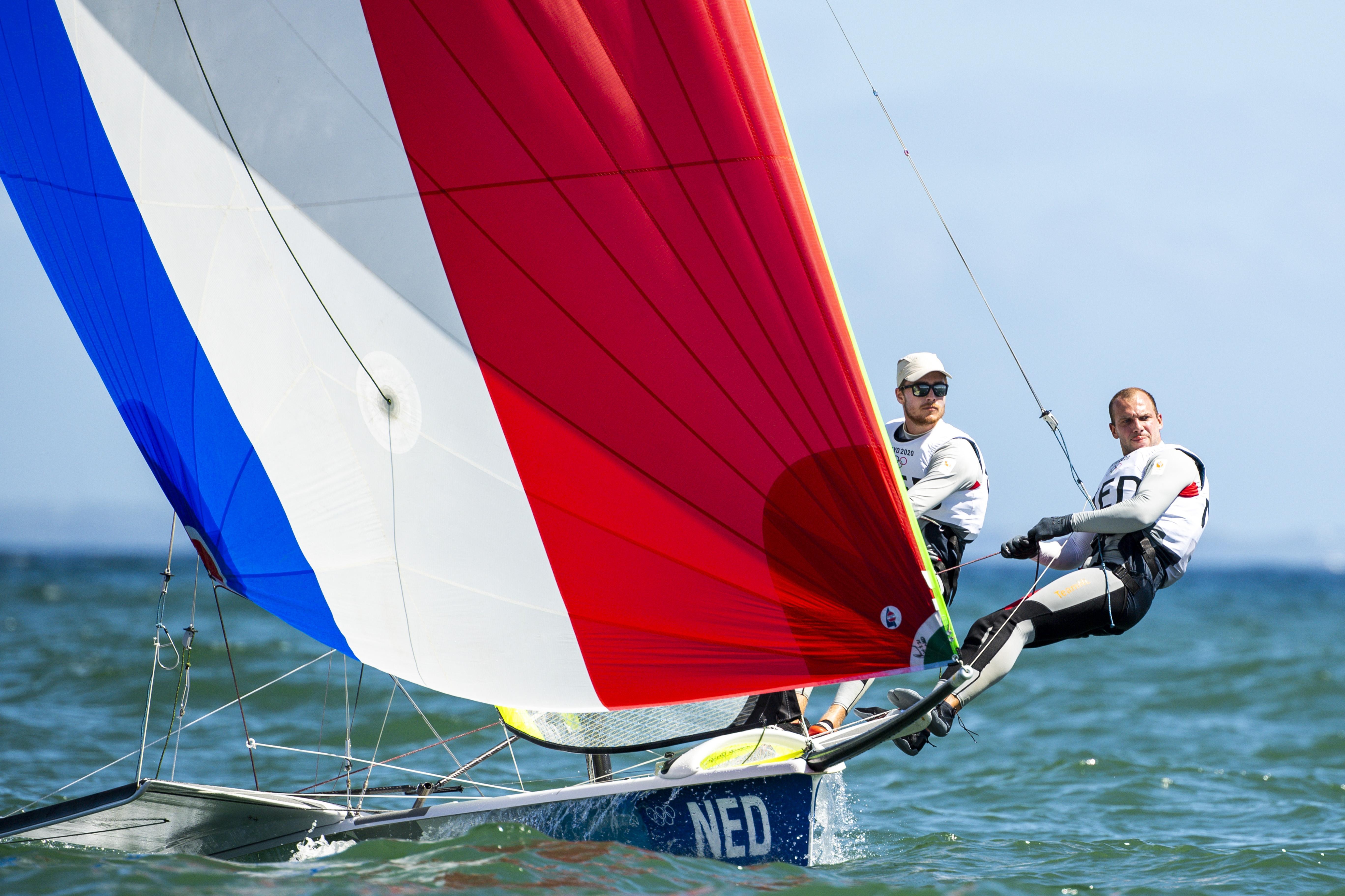 Zeilers Van Vugt en Lambriex eindigen als zesde op Spelen