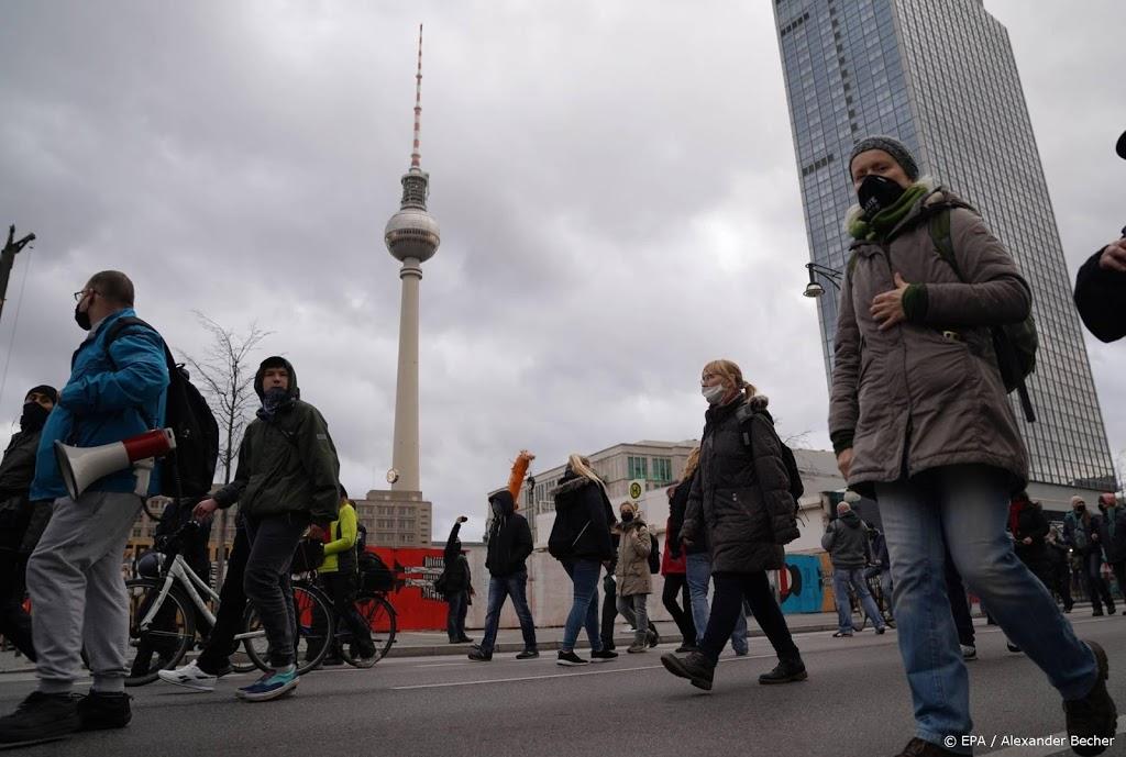 Protesten tegen coronamaatregelen in Duitse steden