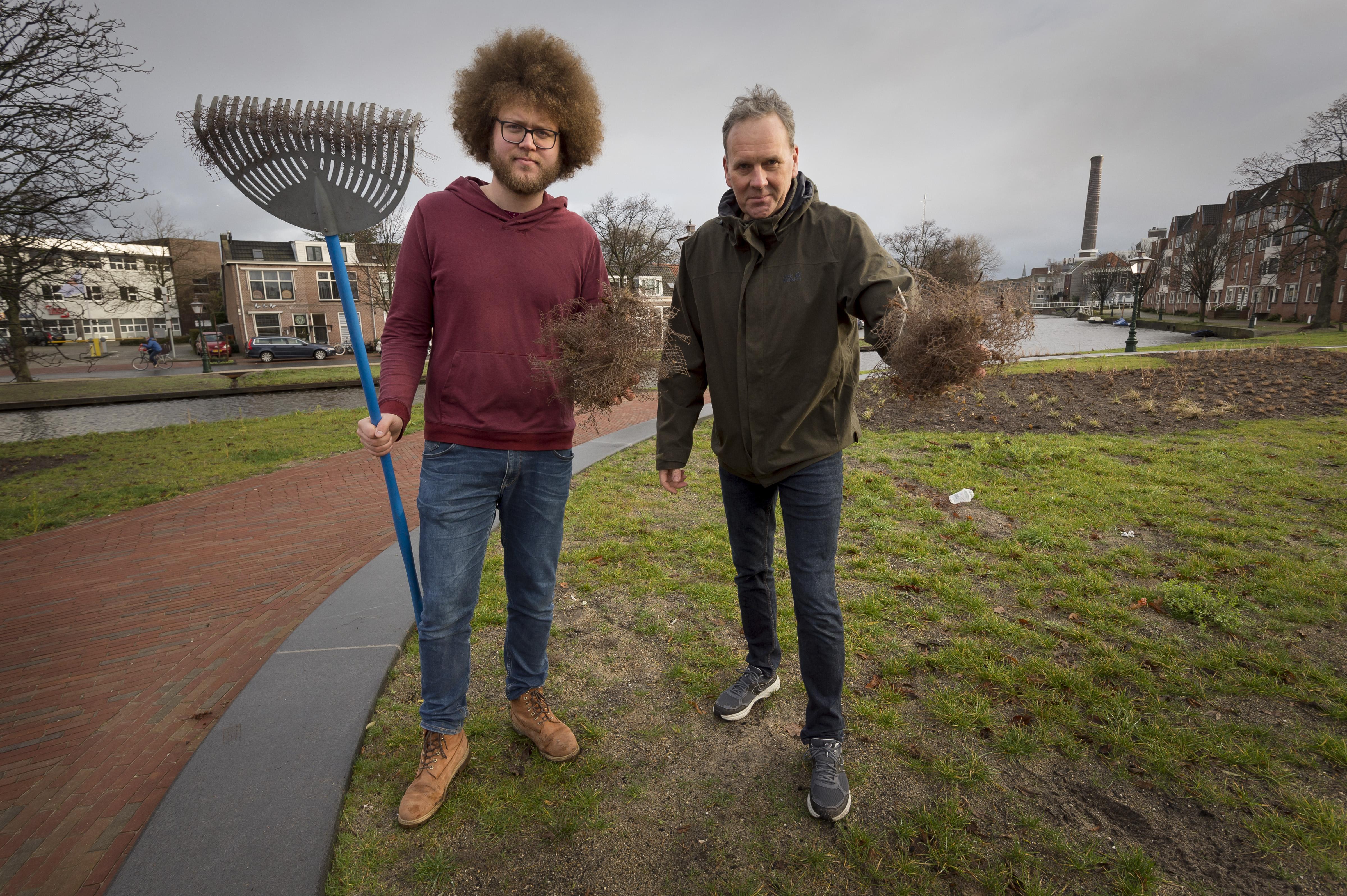 In Leiden wordt nergens meer 'gefundeerd gras' gezaaid