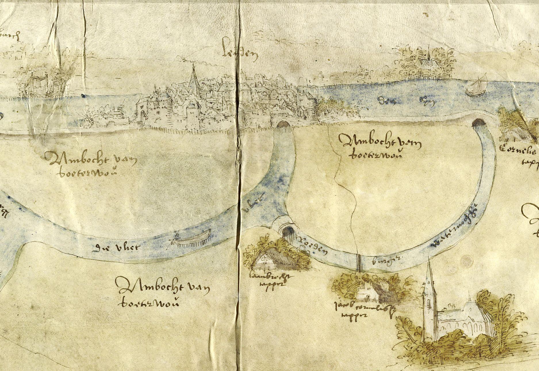 Oudste stadsgezicht op Leiden, nou ja, toch één van de oudste, duikt op in archief in Delft