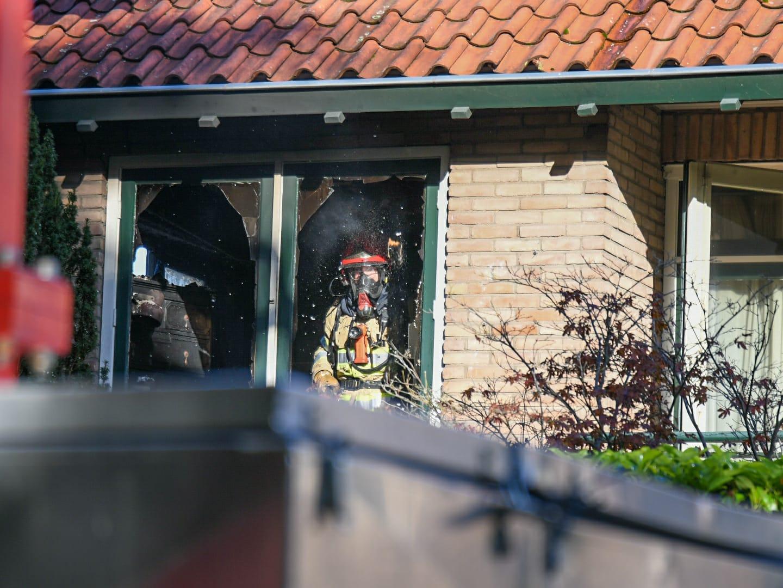 Brand in slaapkamer woning Loosdrecht