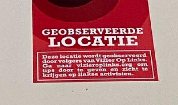 Stickers van Vizier op Links 'onacceptabel en verwerpelijk', vindt Universiteitenkoepel