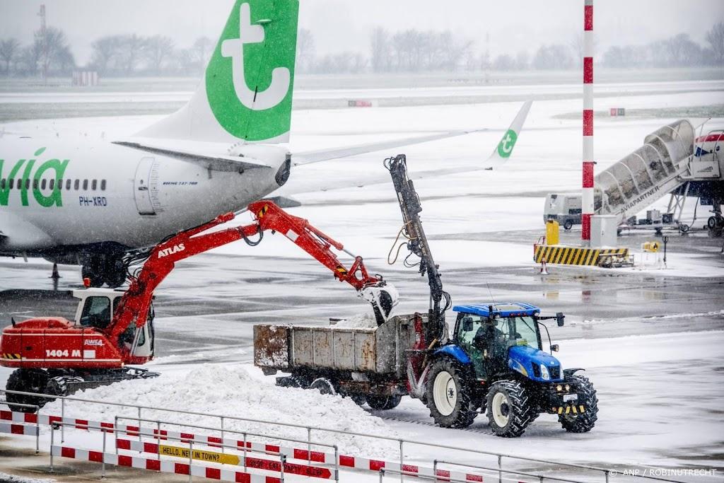 Vertragingen vliegverkeer door winterweer