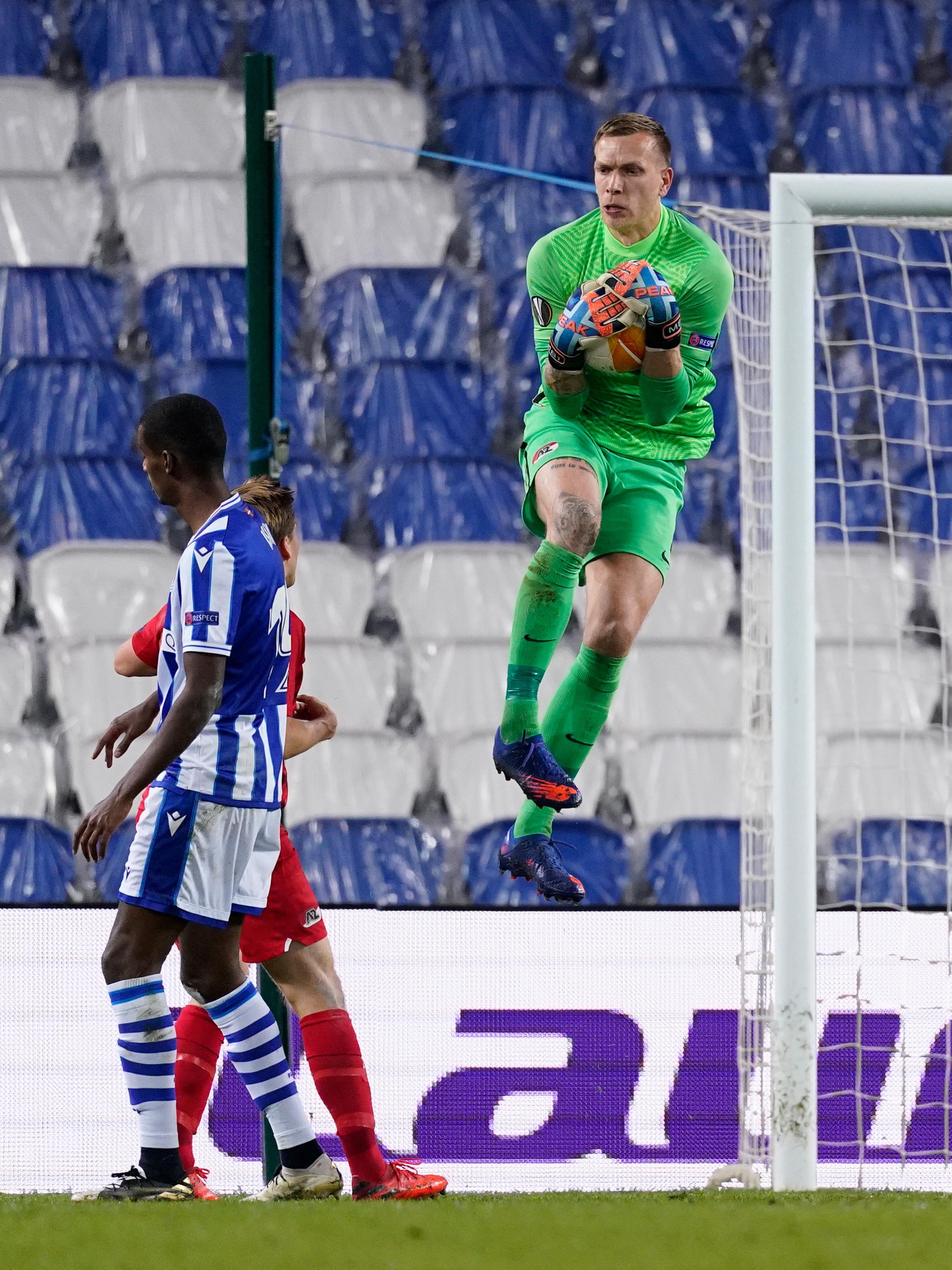 'Wij kunnen dit soort teams aan.' Doelman Marco Bizot is ervan overtuigd dat AZ opnieuw kan stunten tegen Napoli