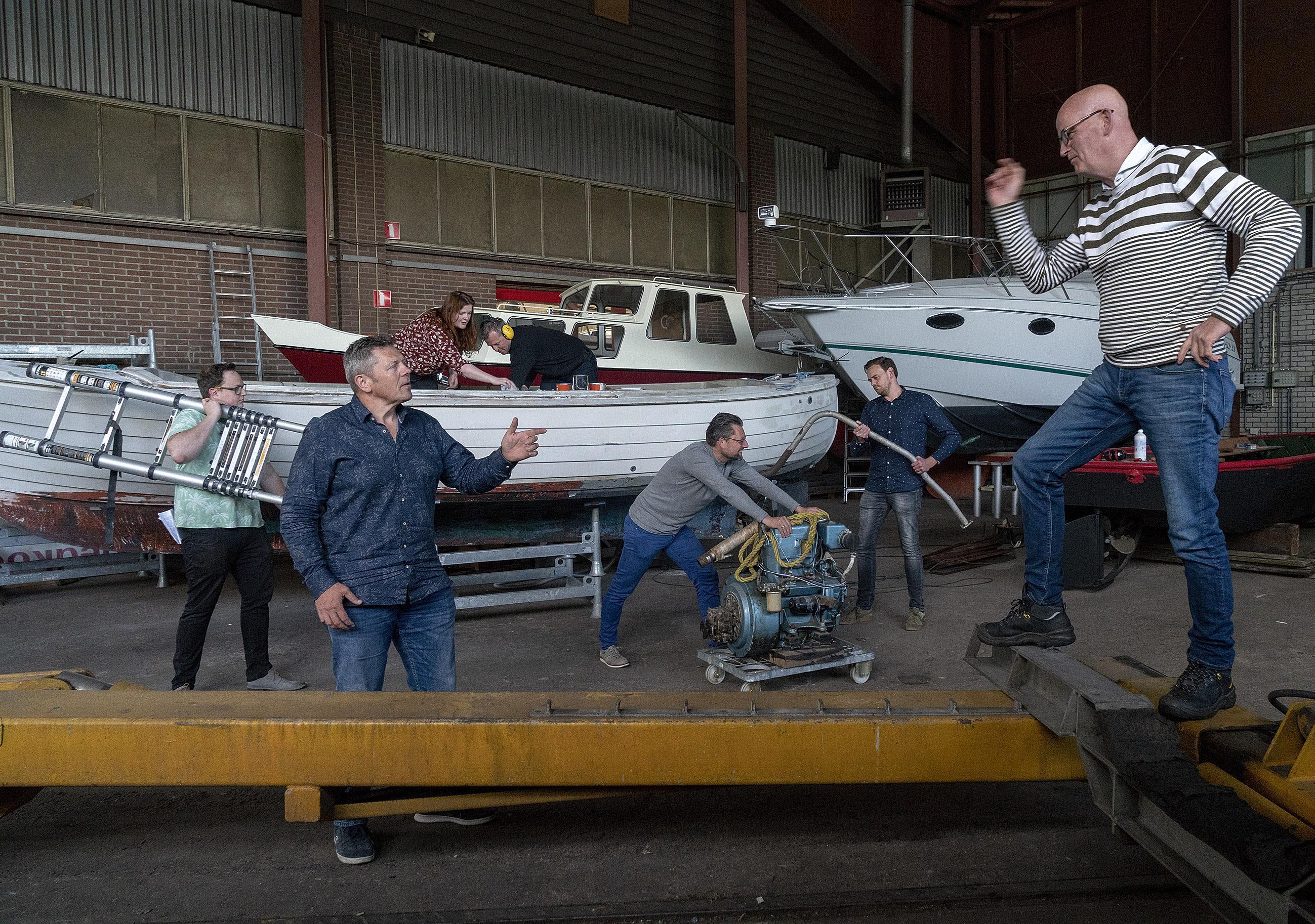 Drie avonden theater tussen bootjes op verdwijnende scheepswerf Broekerwerf
