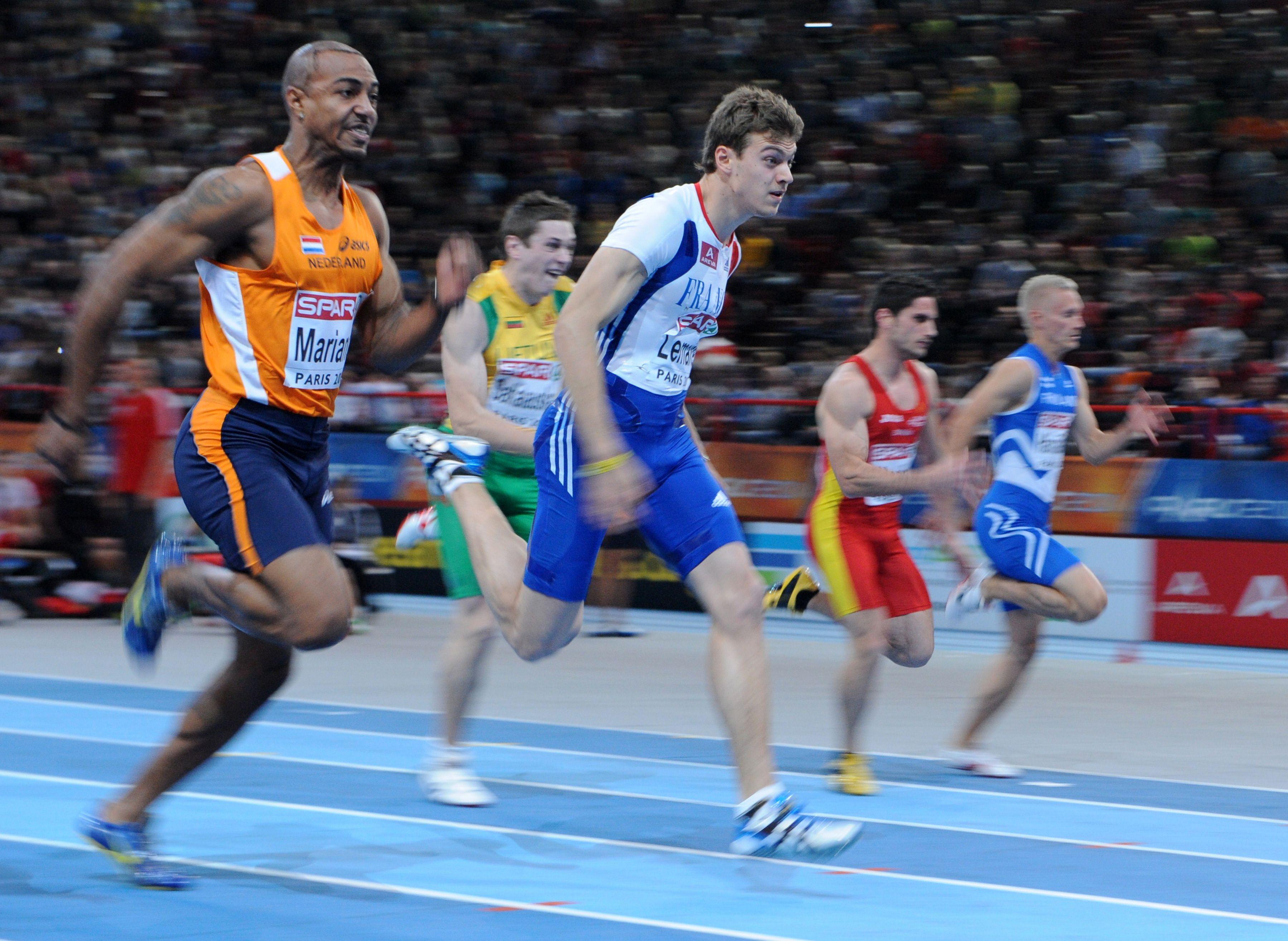 Franse topsprinter Christophe Lemaitre maakt zijn opwachting bij de strijd om de Gouden Spike op de atletiekbaan in Leiden [video]