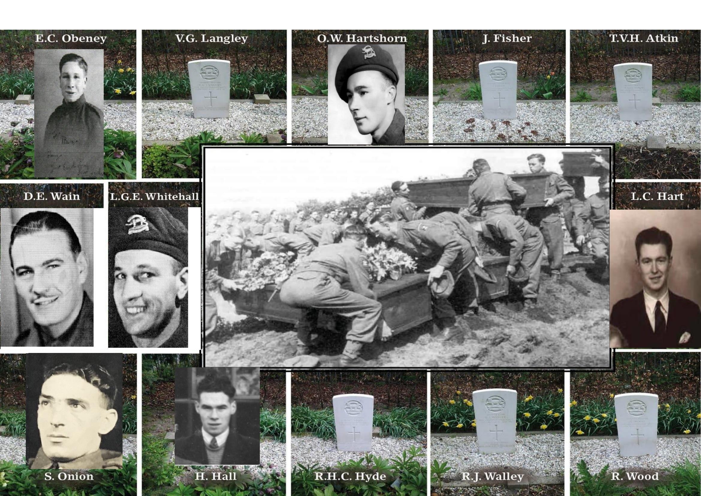 Dramatische explosie maakt einde aan het leven van dertien jonge Britse soldaten. Hilversummer vindt 75 jaar na het tragische ongeluk de gezichten bij de graven: 'Ze dachten over een week weer thuis te zijn'