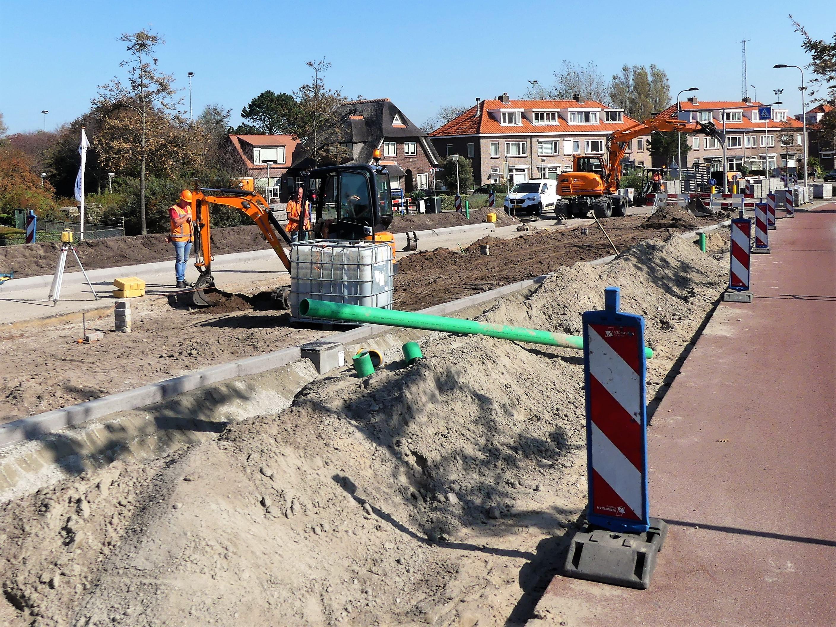 Van Panhuysstraat Noordwijk op de schop voor aanleg twee nieuwe haltes voor snelbus