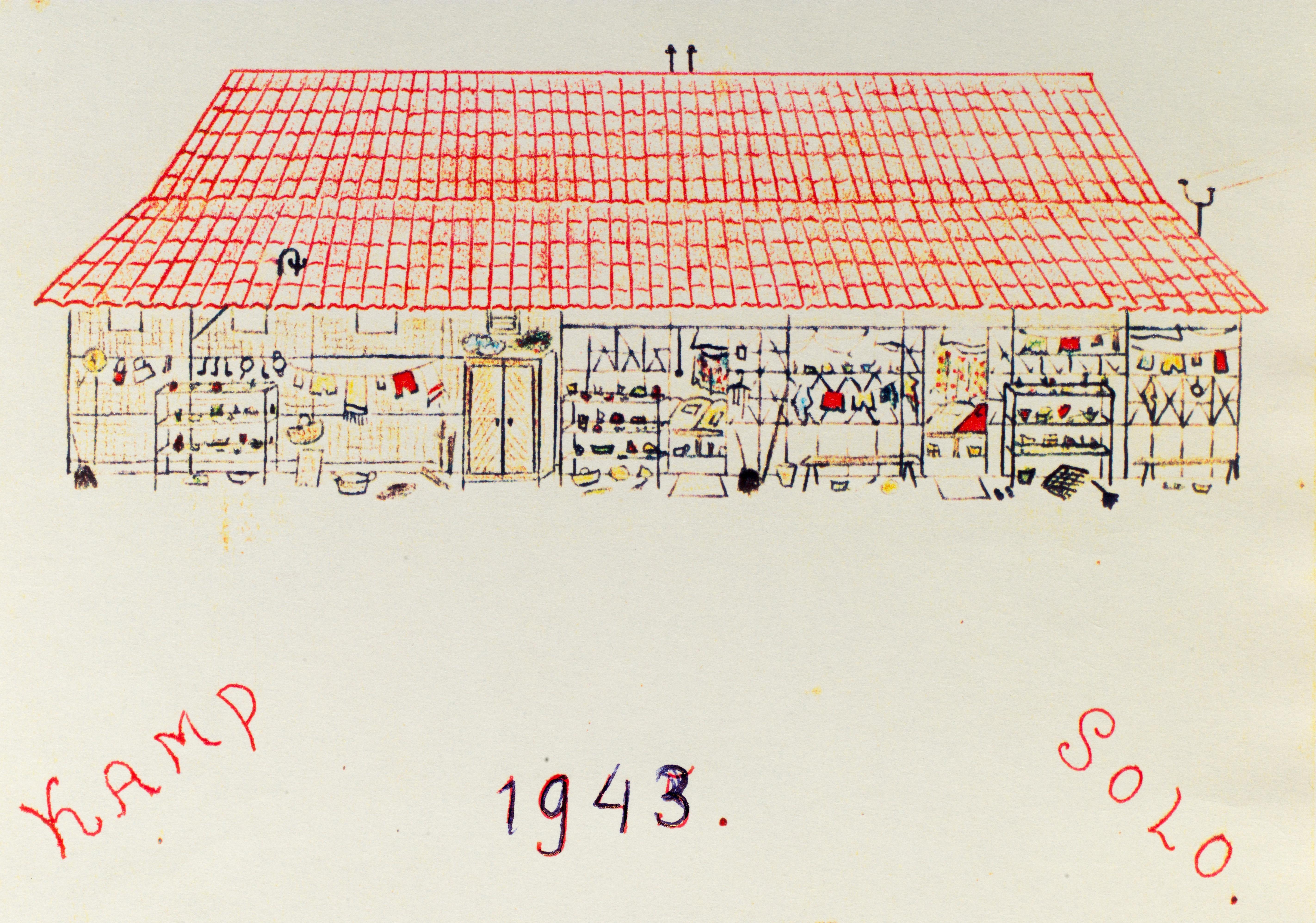 Jeanne de Rijke tekende het leven in het kamp: 'Mijn broertje was na de bevrijding doorschijnend geworden'