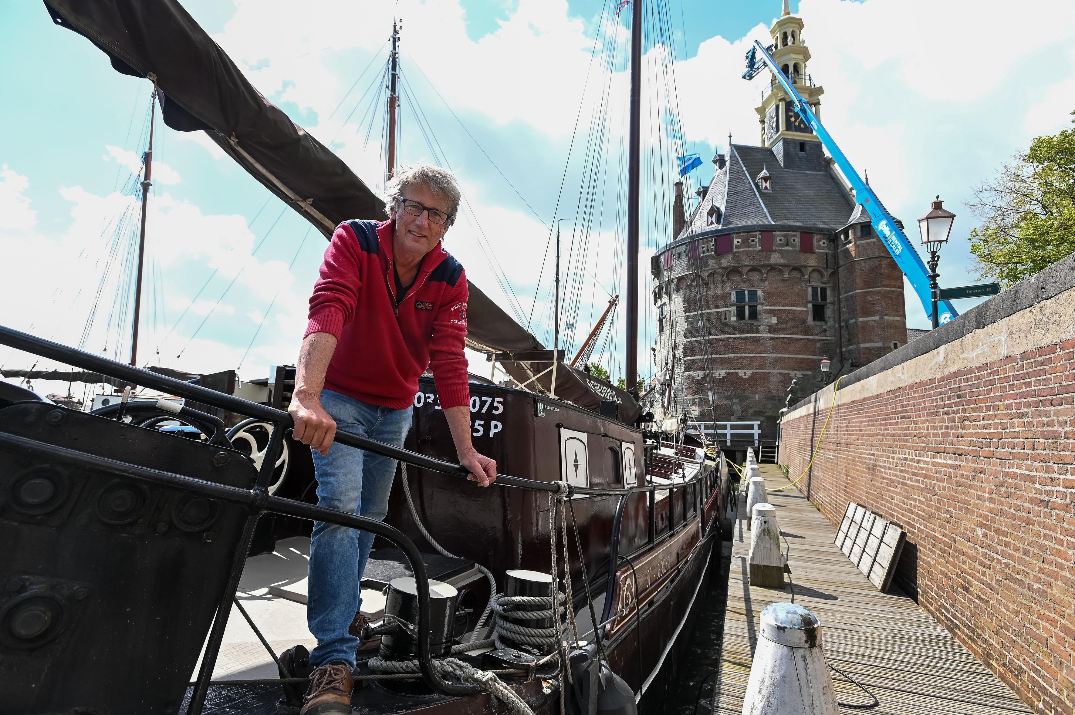 Schipper Wouter van Dusseldorp zwaait zijn Egberdina uit: 'Het was een eer om voor het schip te mogen zorgen'