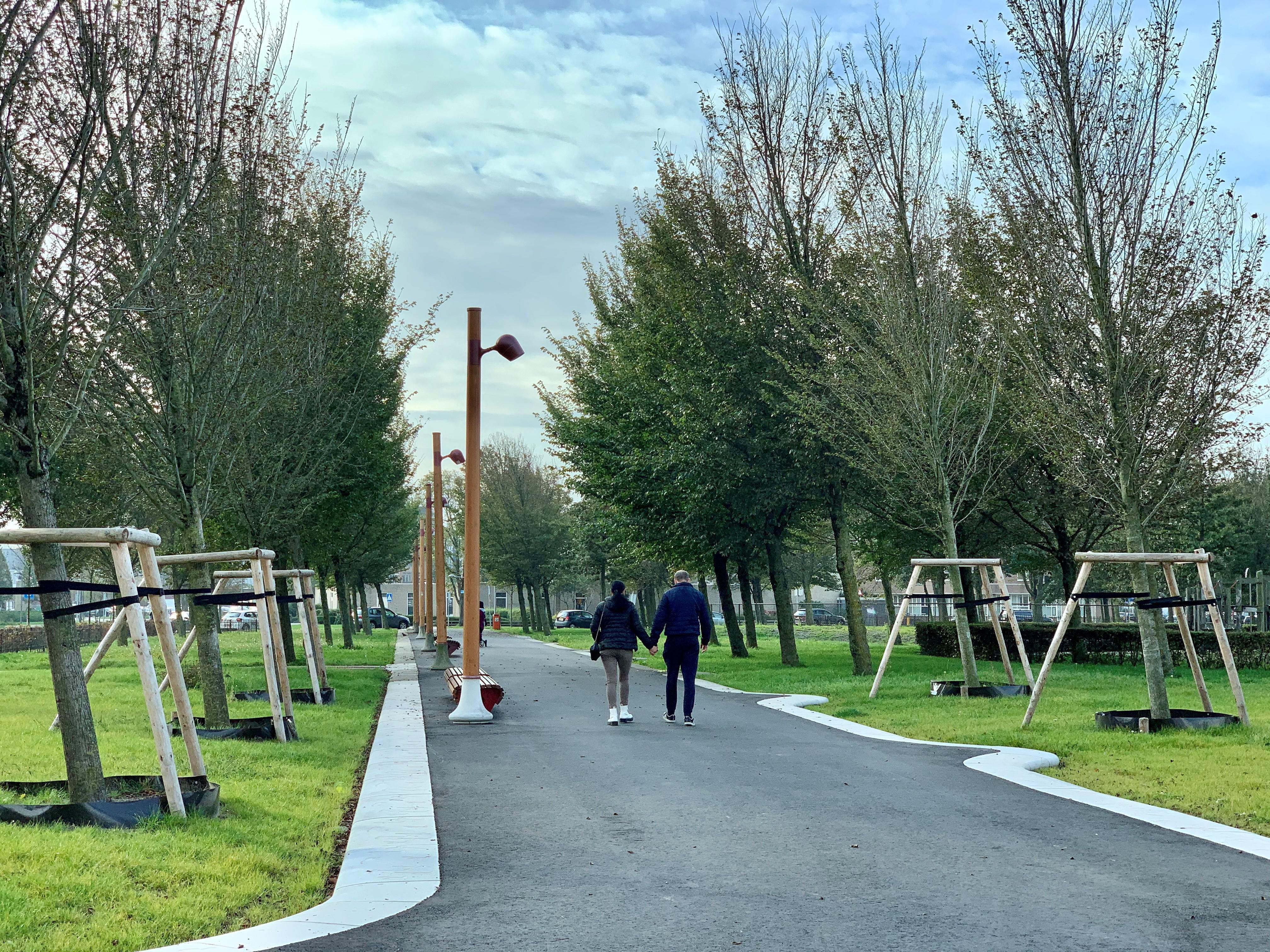 Geen officiële opening laatste deel Stadspark: 54 iepen en 365 meter hekwerk