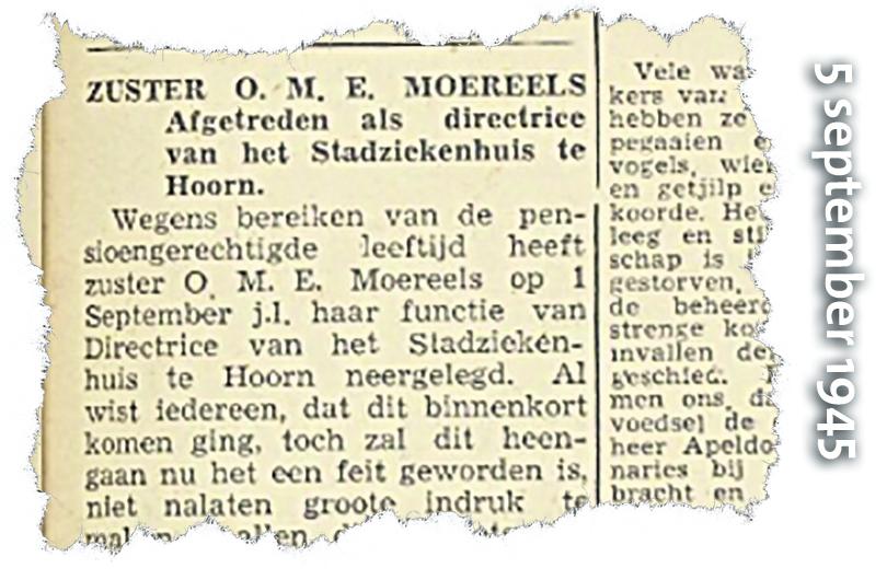 Odile Moreels, zachte verpleegster met ijzeren wil trotseert Duitse bezetter in Hoorn