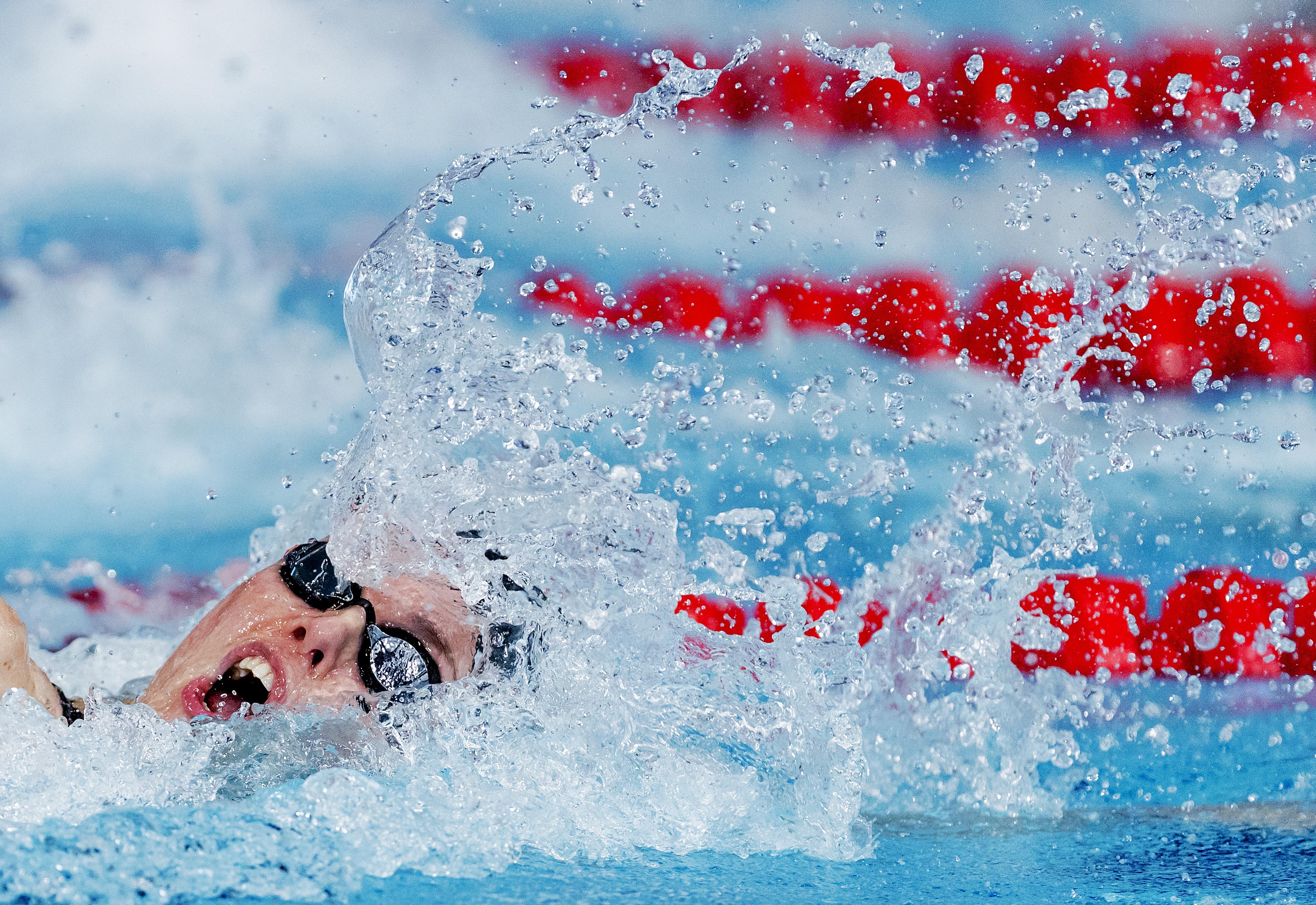 Zwemmer Marc Evers toont zich tevreden na OKT in Rotterdam