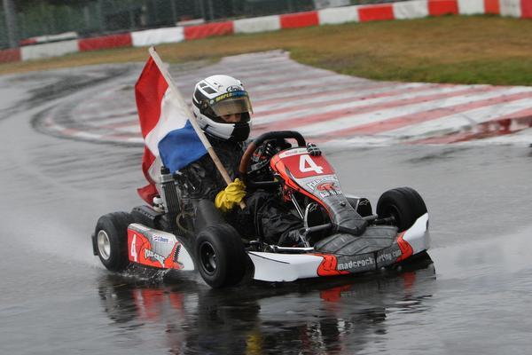 Jonge kampioen Coen Doorn 'gentleman in de kart'