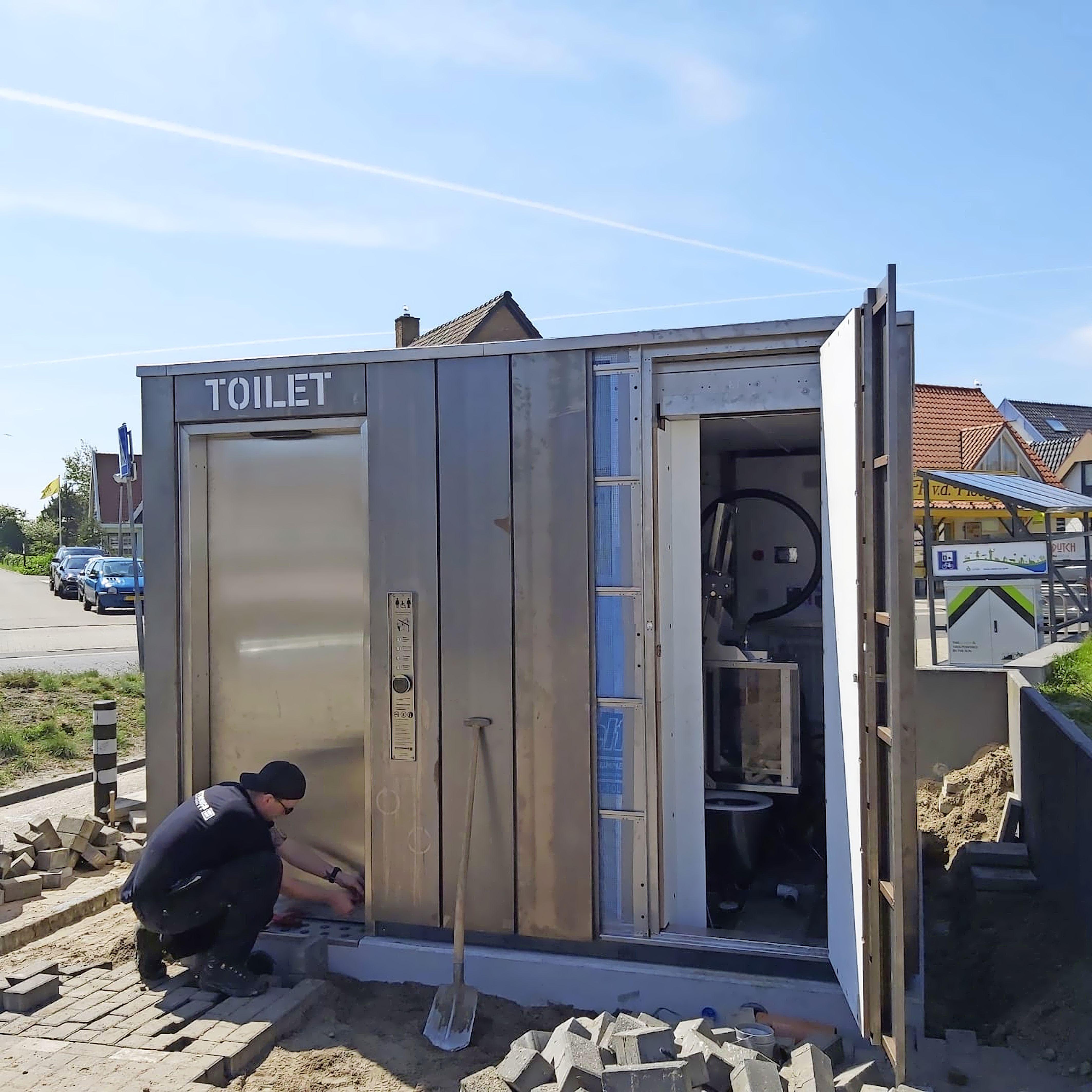 Duppie voor een druppie: openbare toiletten geplaatst in badplaats Callantsoog