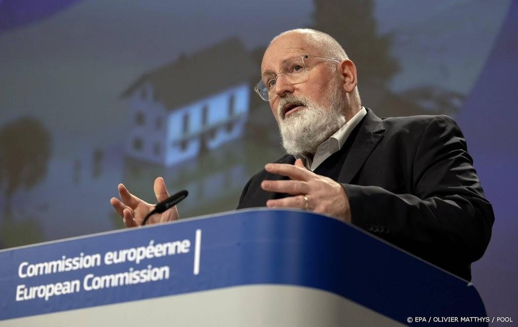 Timmermans: EU moet zich nú wapenen tegen hittegolf en hoogwater