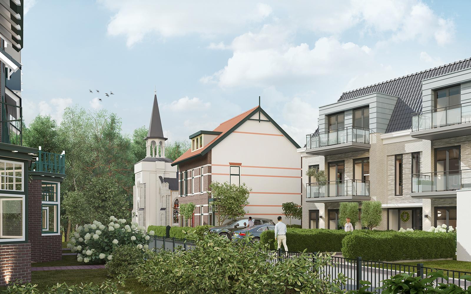 Nieuwbouwproject aan de Kampstraat in Baarn gaat in de verkoop. Zes woningen van minimaal 550.000 euro op plek oude galvaniseerfabriek