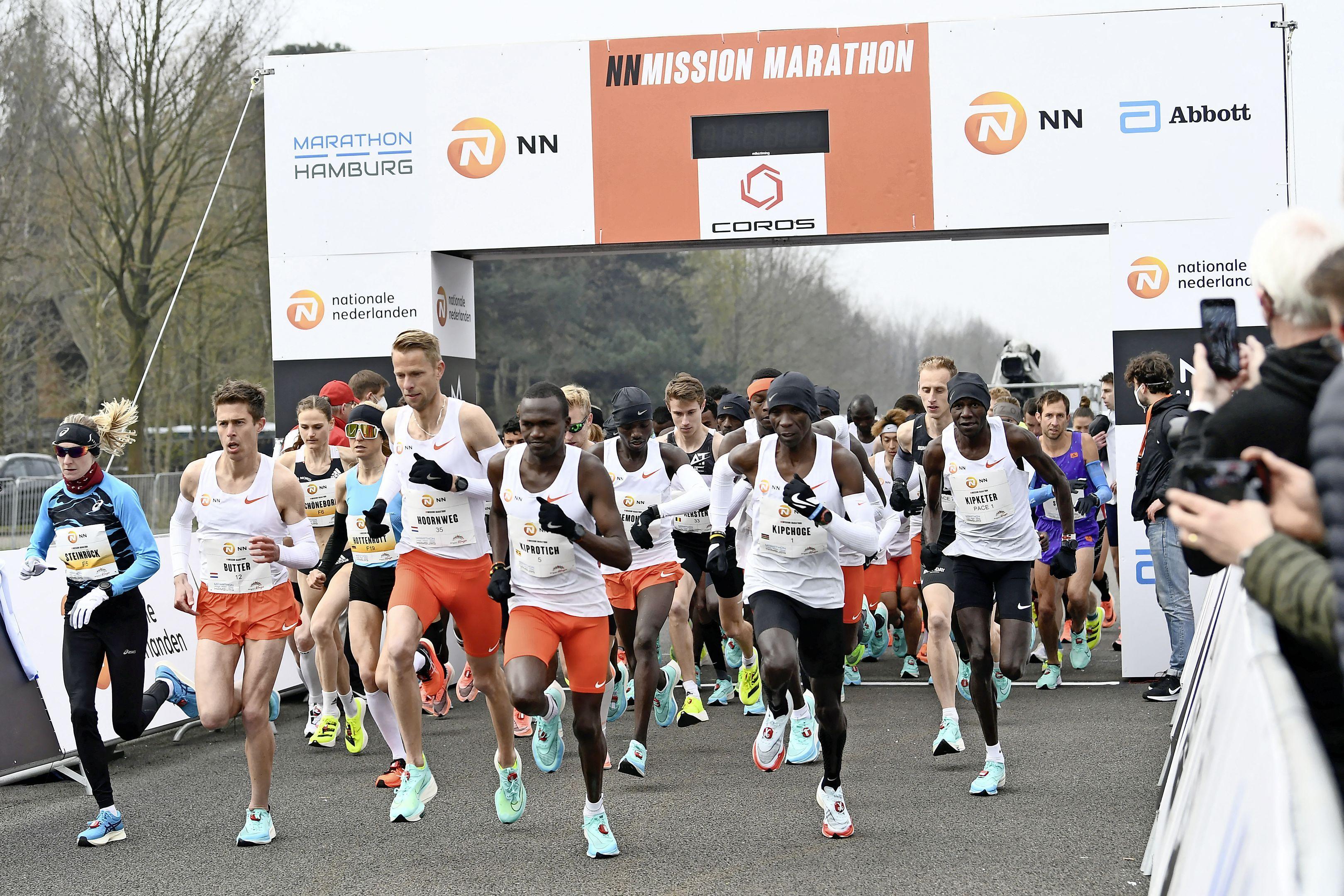 Marathonlopers Michel Butter en Jill Holterman duiken in Enschede onder de olympisch limiet. Zij weet zich verzekerd van een vuurdoop bij de Spelen, hij moet in de wachtkamer plaatsnemen