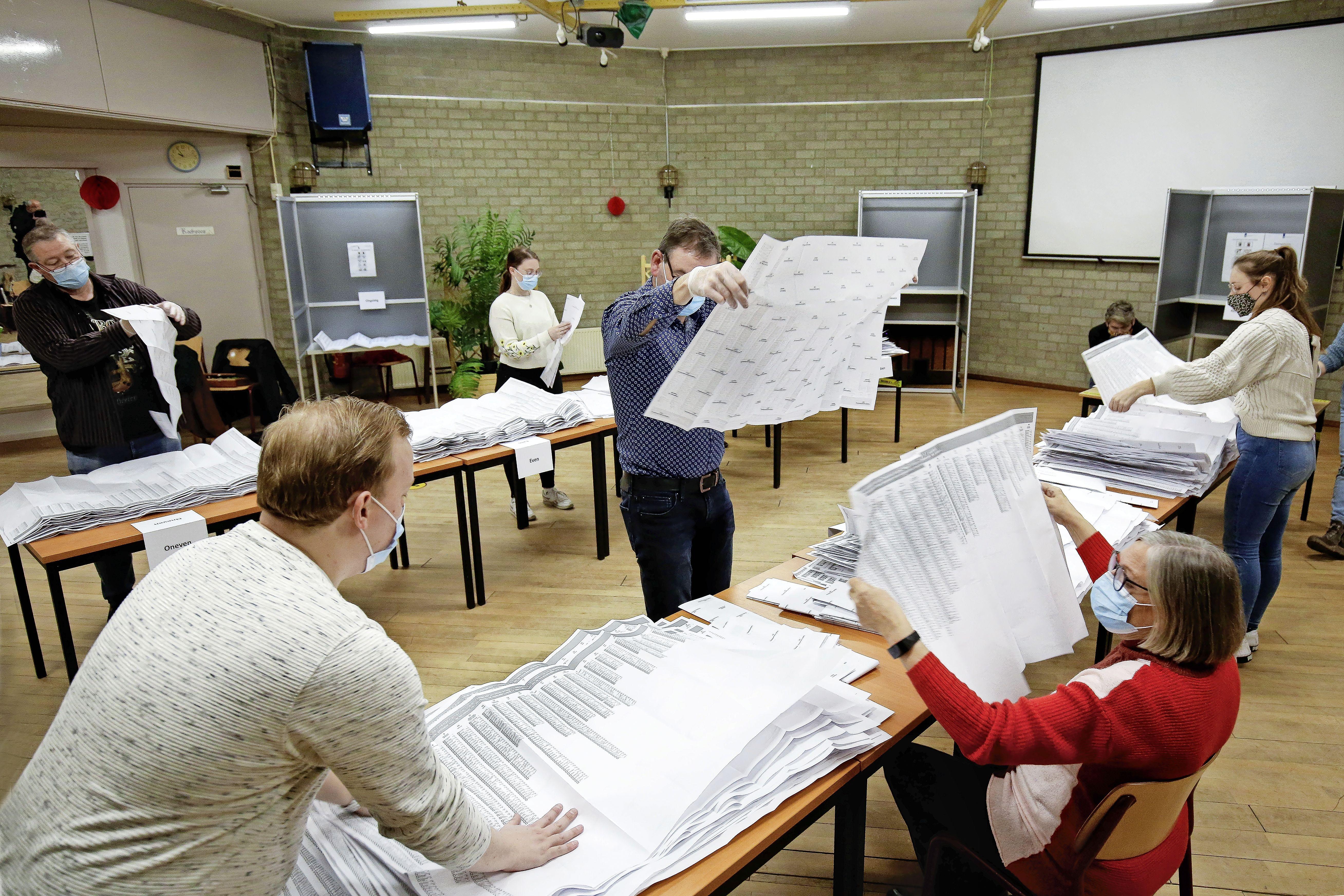 Voor het laatst stemmen (waarschijnlijk) in buurthuis De Spil in IJmuiden. De PVV wint, glansrijk